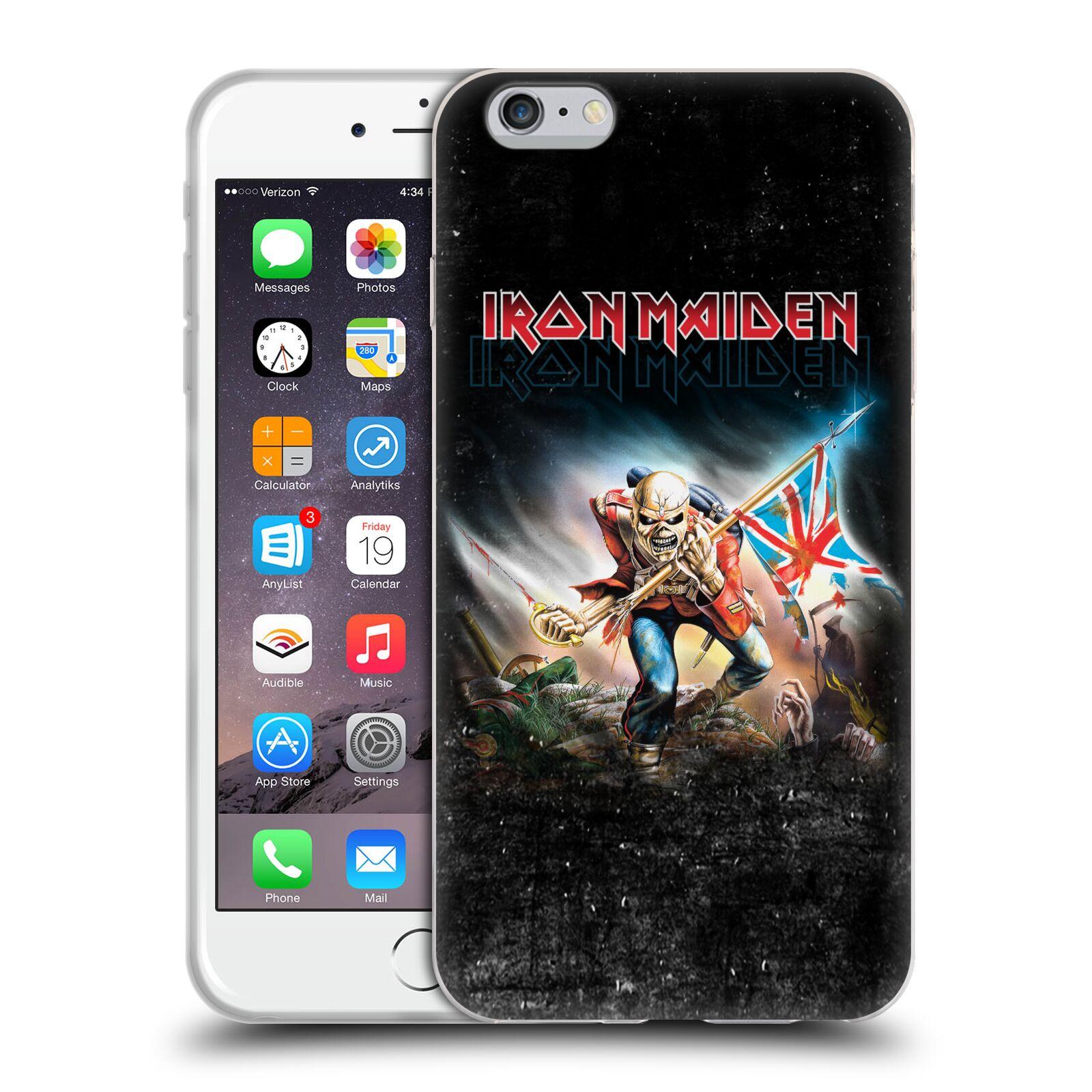 HEAD CASE silikonový obal na mobil Apple Iphone 6/6S PLUS Heavymetalová skupina Iron Maiden bojovník
