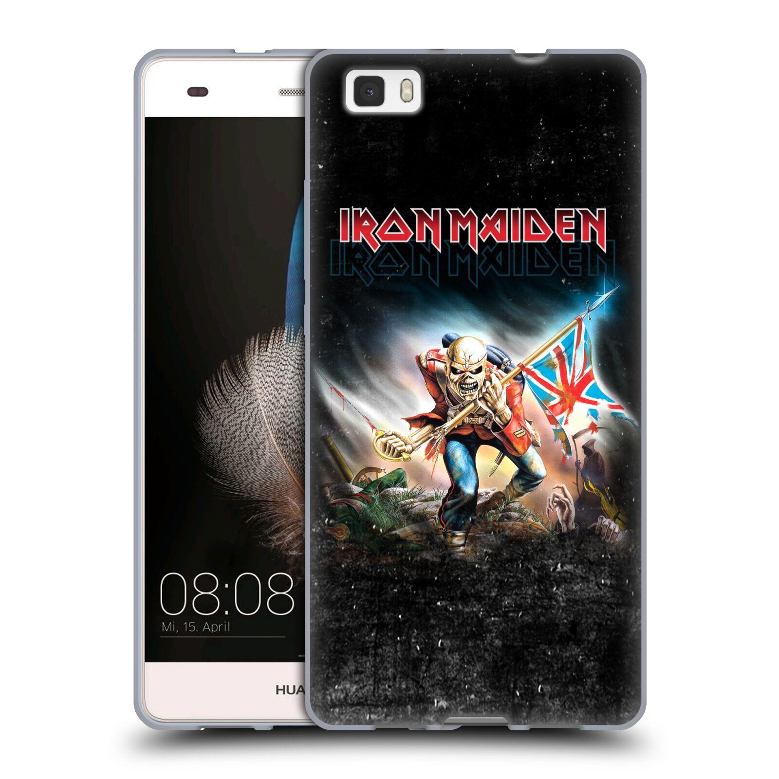HEAD CASE silikonový obal na mobil Huawei P8 LITE / P8 LITE DUAL SIM Heavymetalová skupina Iron Maiden bojovník