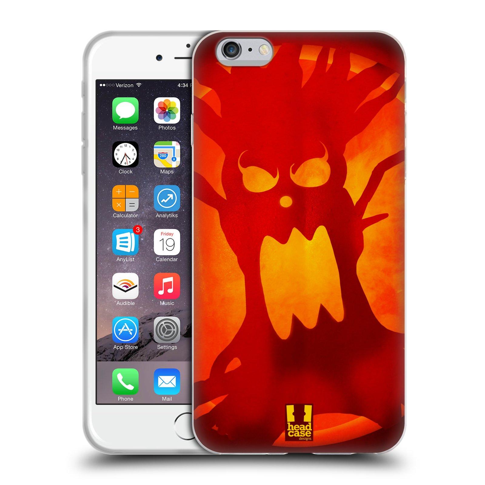HEAD CASE silikonový obal na mobil Apple Iphone 6 PLUS/ 6S PLUS vzor odraz svítilny oranžová STRAŠIDELNÝ STROM
