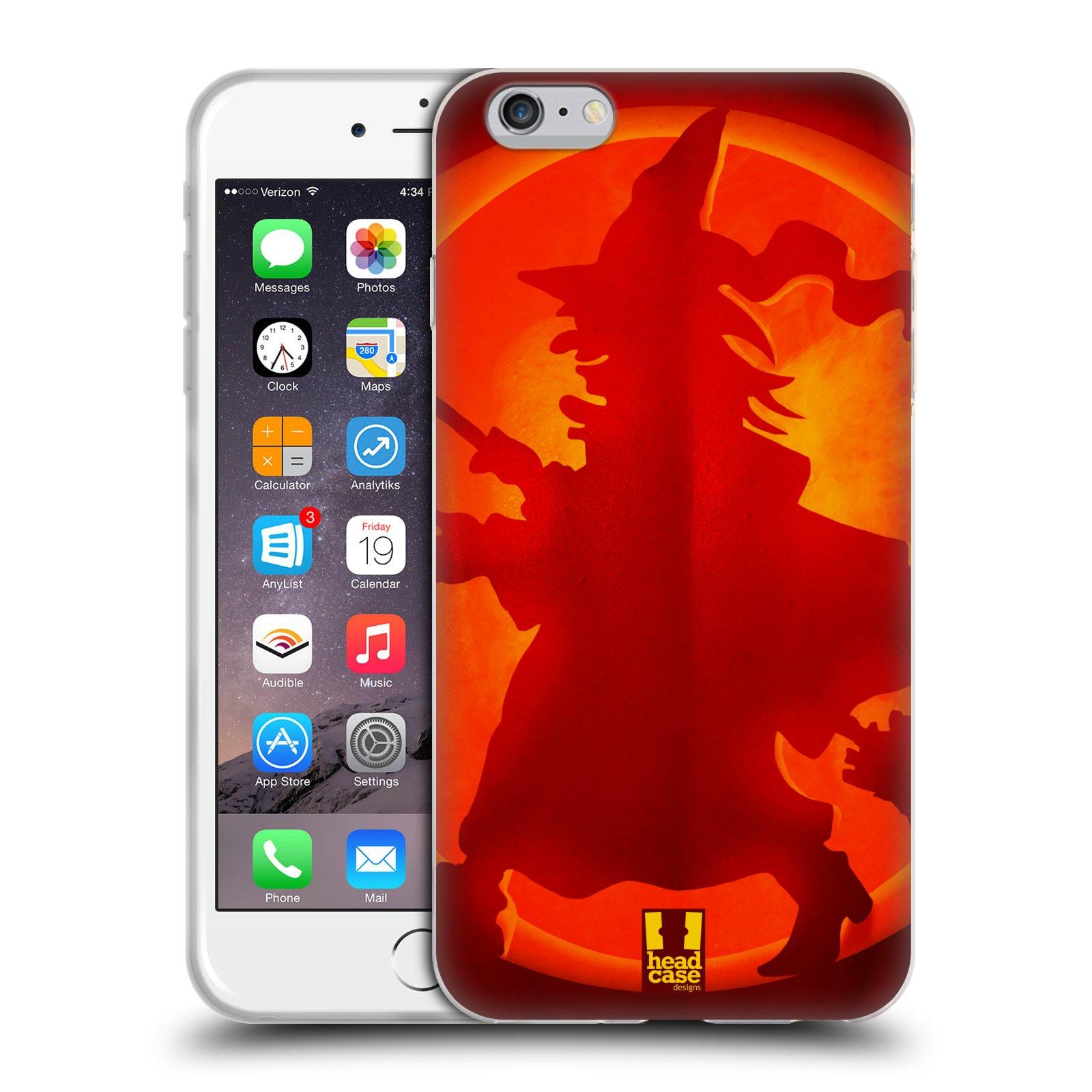 HEAD CASE silikonový obal na mobil Apple Iphone 6 PLUS/ 6S PLUS vzor odraz svítilny oranžová ČARODĚJNICE