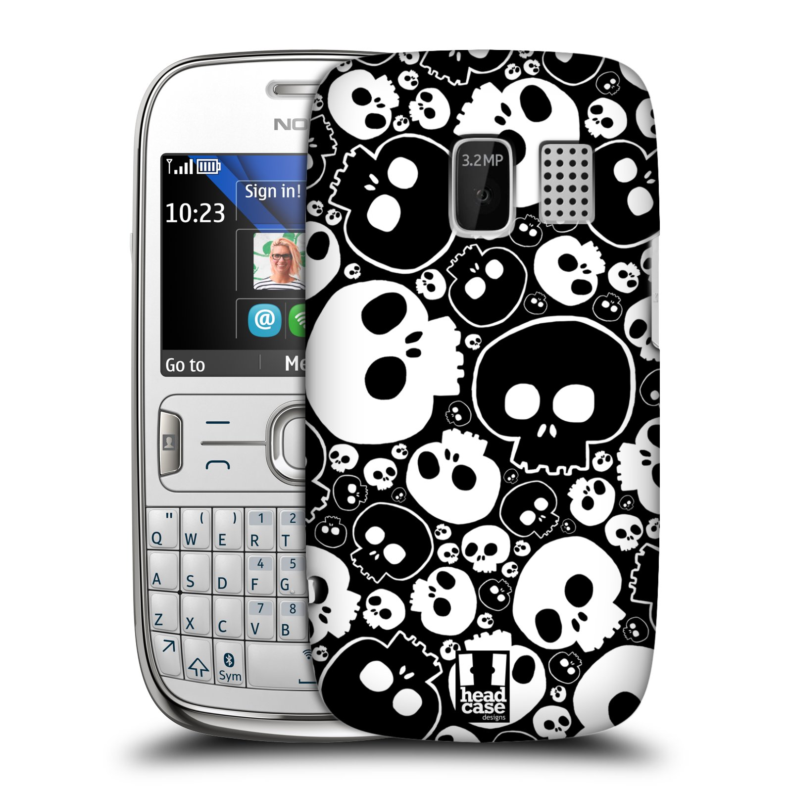 HEAD CASE DESIGNS JAZZY SKULL CASE COVER FOR NOKIA ASHA 302