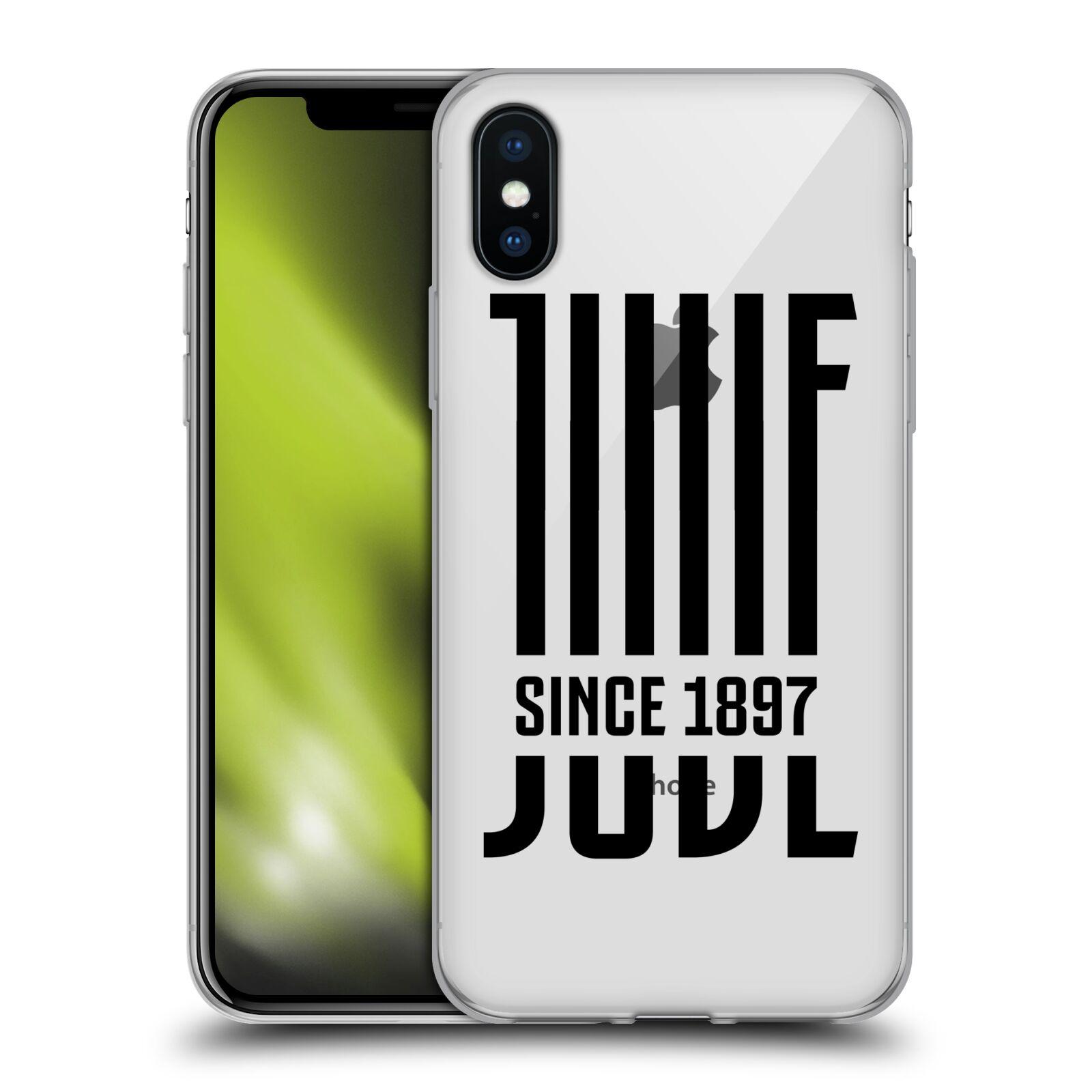 HEAD CASE silikonový obal na mobil Apple Iphone X Fotbalový klub Juventus  FC průhledný černá JUVE 6bdebc26ae9