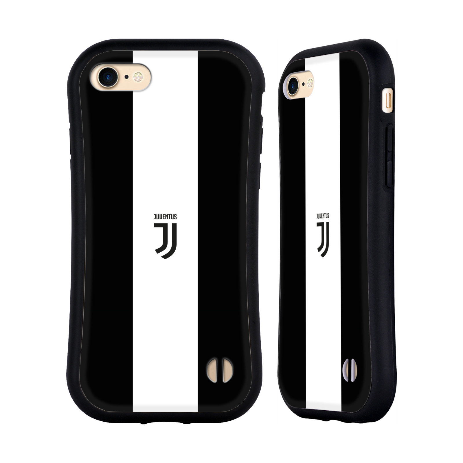 HEAD CASE odolný obal na mobil Apple Iphone 8 Fotbalový klub Juventus FC pruhy znak černá a bílá