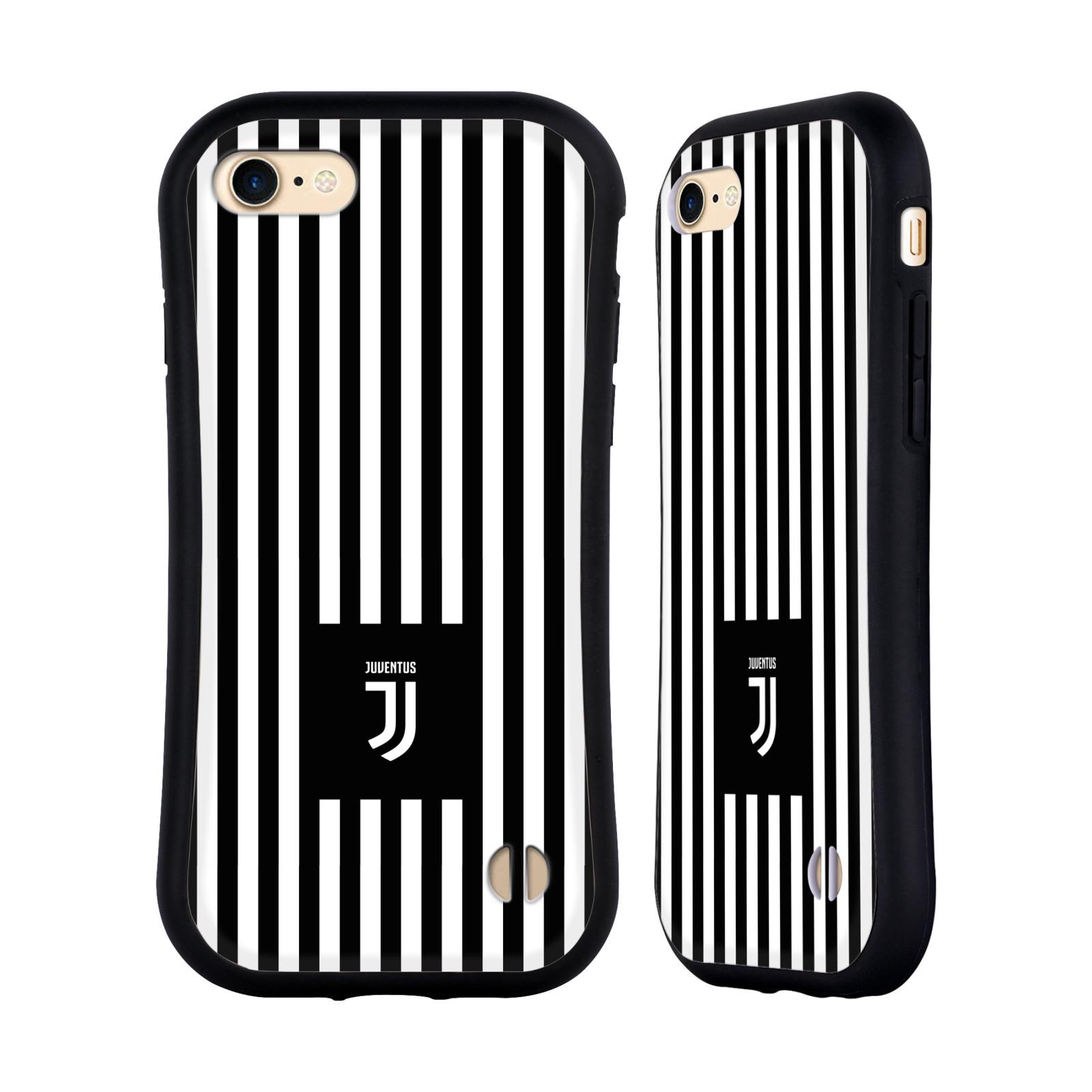HEAD CASE odolný obal na mobil Apple Iphone 8 Fotbalový klub Juventus FC černobílé pruhy znak