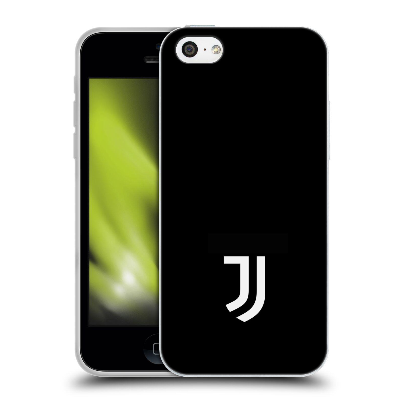 HEAD CASE silikonový obal na mobil Apple Iphone 5C Fotbalový klub Juventus  FC černé pozadí bílý znak malý cf5b76d41c5
