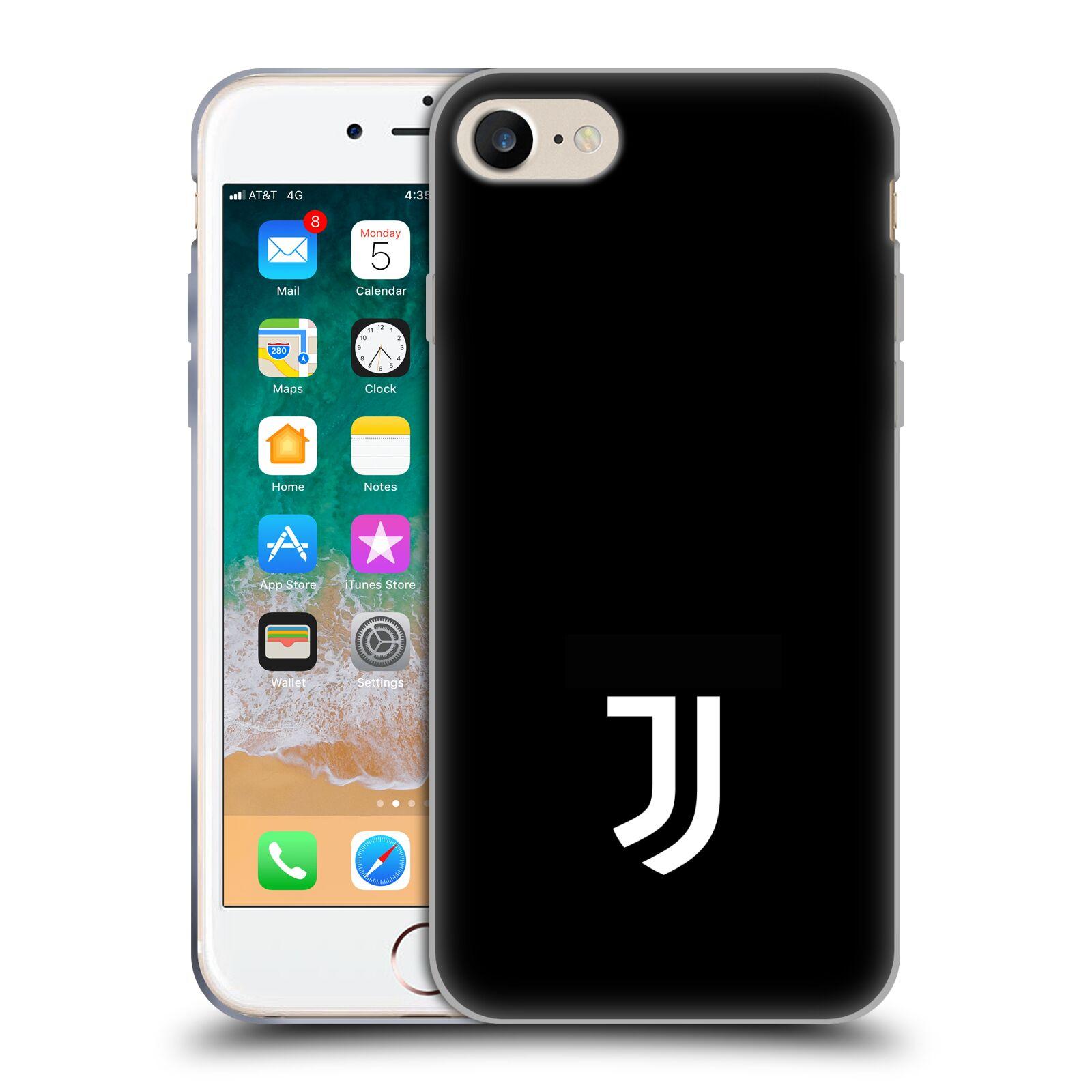 HEAD CASE silikonový obal na mobil Apple Iphone 7 Fotbalový klub Juventus  FC černé pozadí bílý znak malý a9145def57a