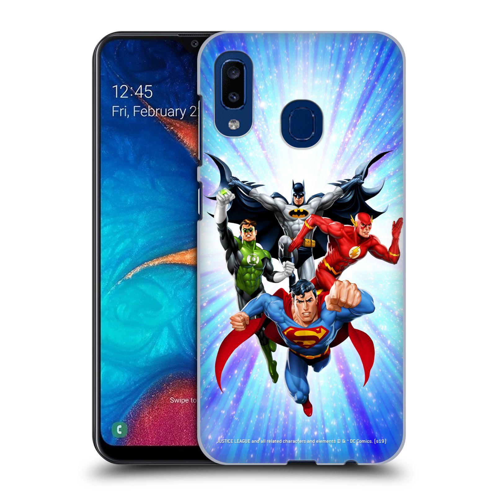 Pouzdro na mobil Samsung Galaxy A20 - HEAD CASE - DC komix Liga Spravedlivých hrdinové
