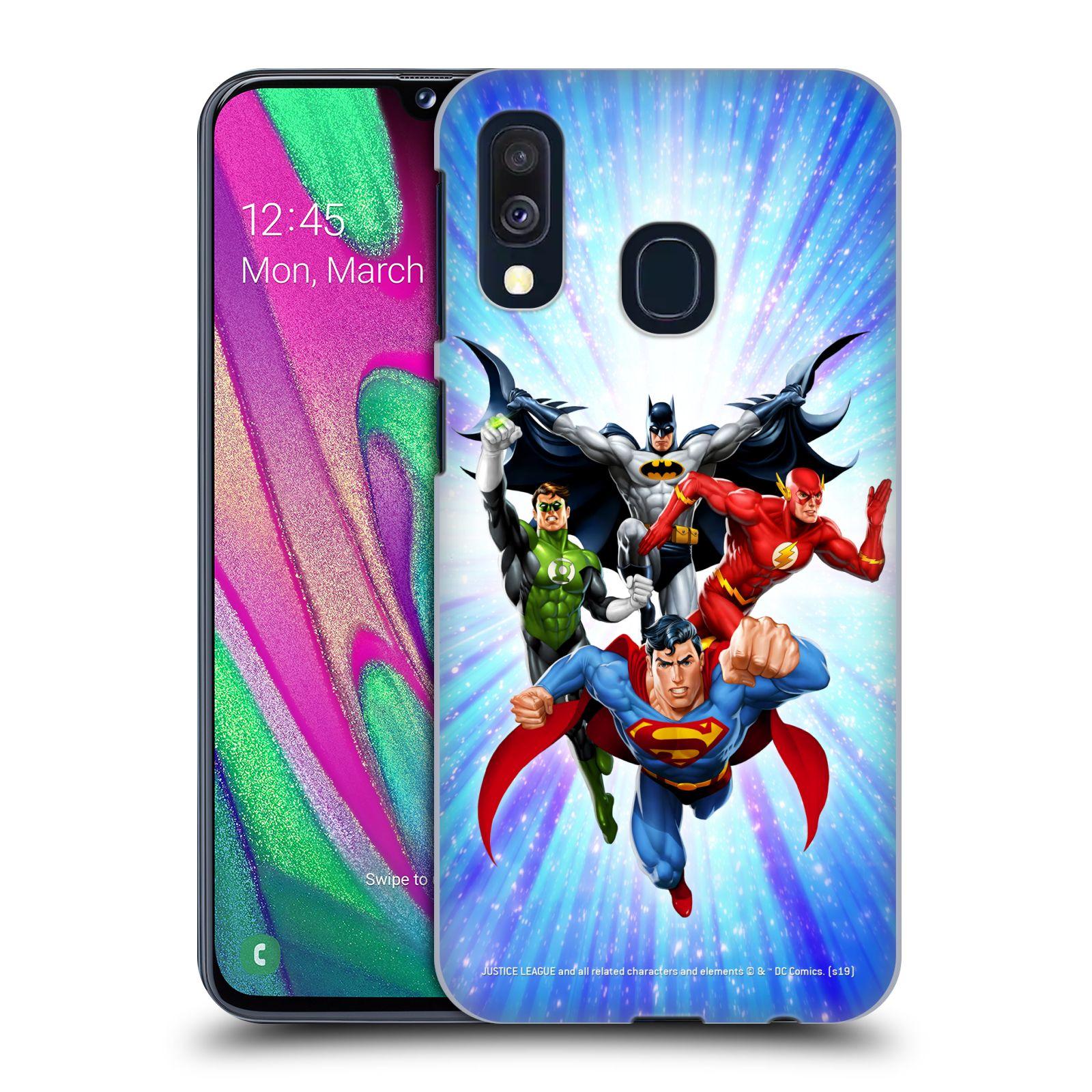 Pouzdro na mobil Samsung Galaxy A40 - HEAD CASE - DC komix Liga Spravedlivých hrdinové