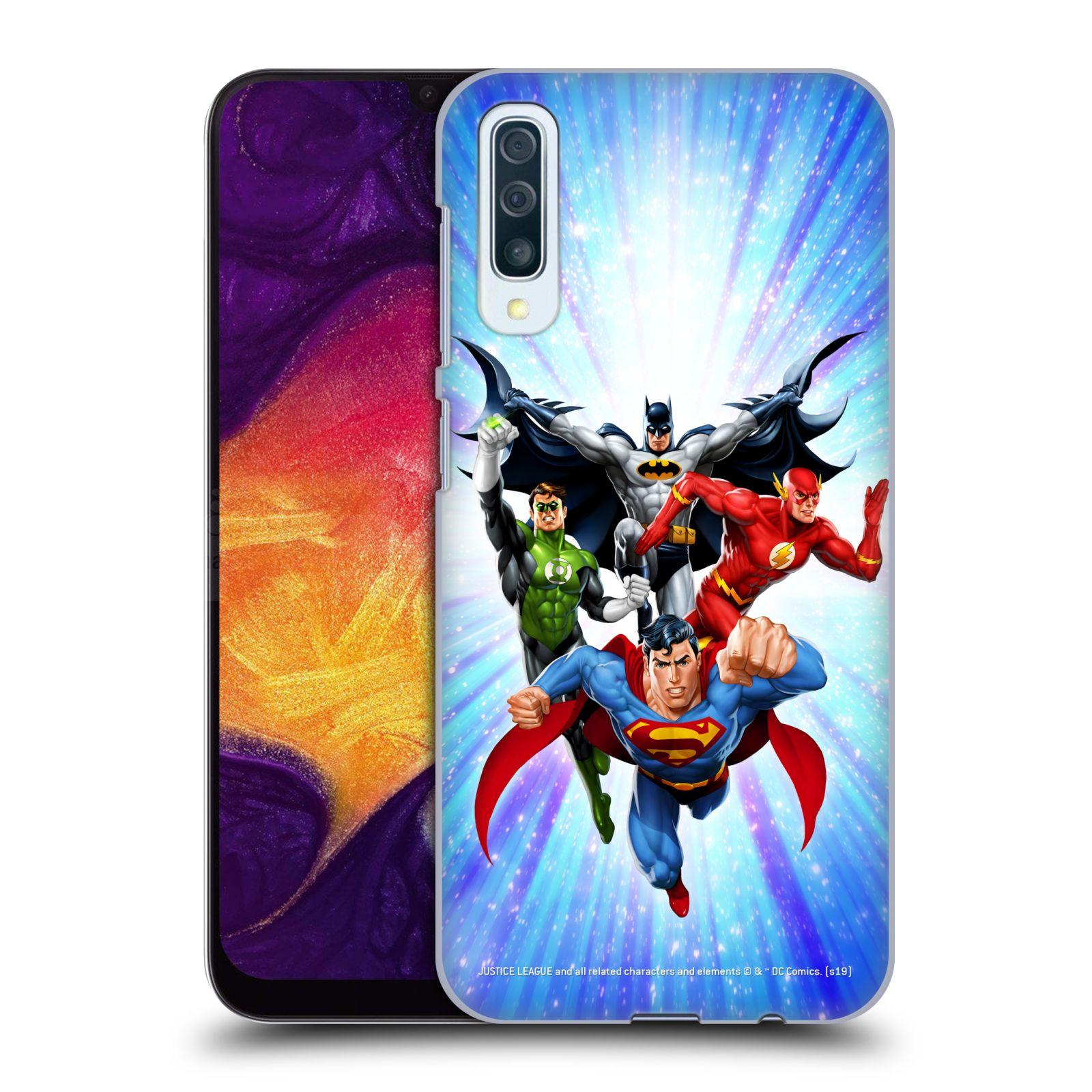 Pouzdro na mobil Samsung Galaxy A50 - HEAD CASE - DC komix Liga Spravedlivých hrdinové