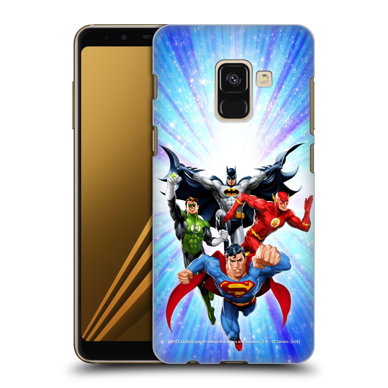 Pouzdro na mobil Samsung Galaxy A8+ 2018, A8 PLUS 2018 - HEAD CASE - DC komix Liga Spravedlivých hrdinové