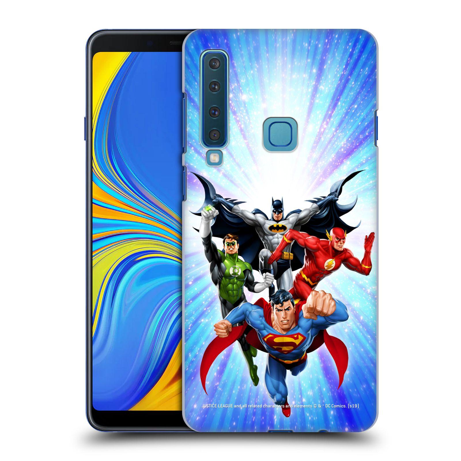Pouzdro na mobil Samsung Galaxy A9 2018 - HEAD CASE - DC komix Liga Spravedlivých hrdinové