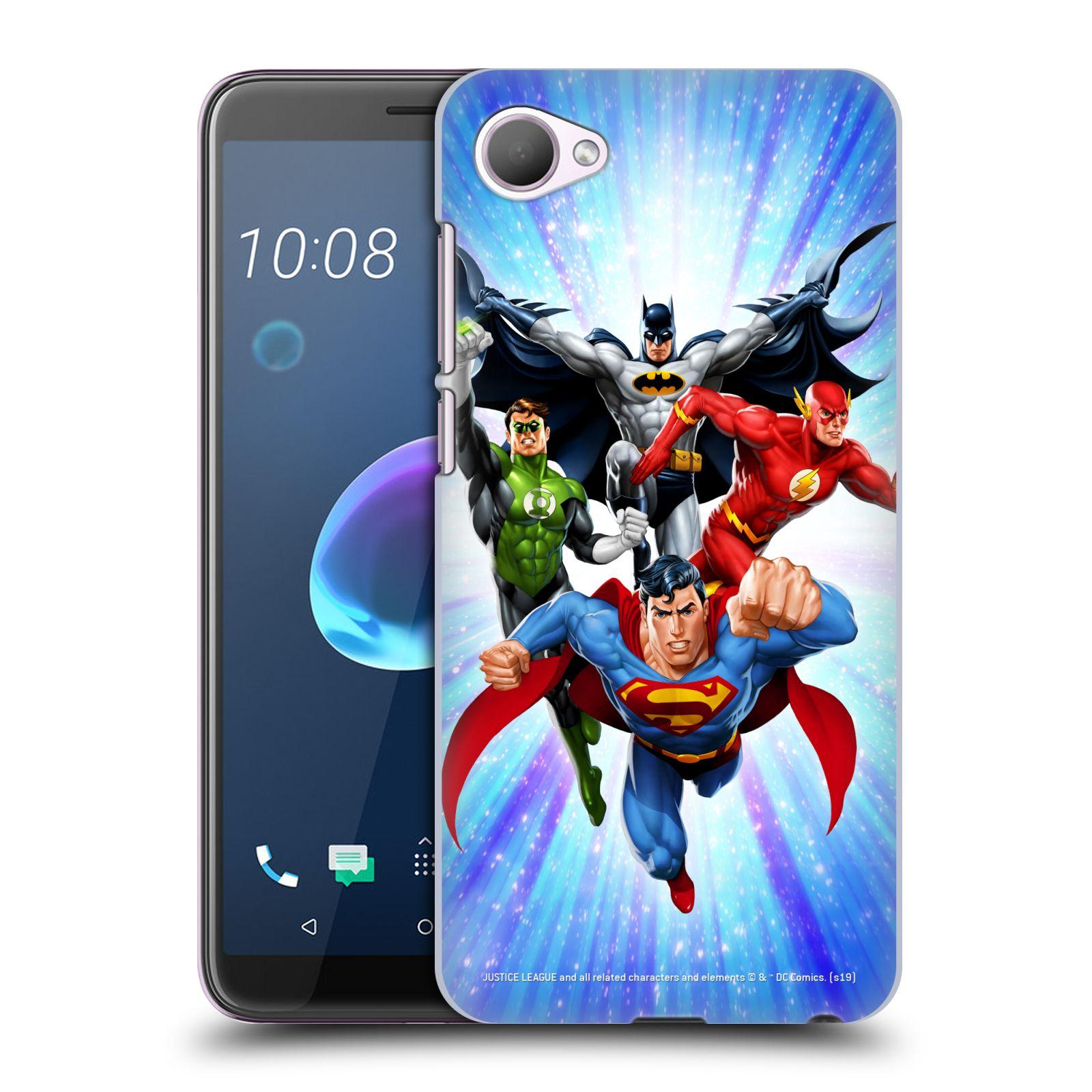 Pouzdro na mobil HTC Desire 12 / Desire 12 DUAL SIM - HEAD CASE - DC komix Liga Spravedlivých hrdinové