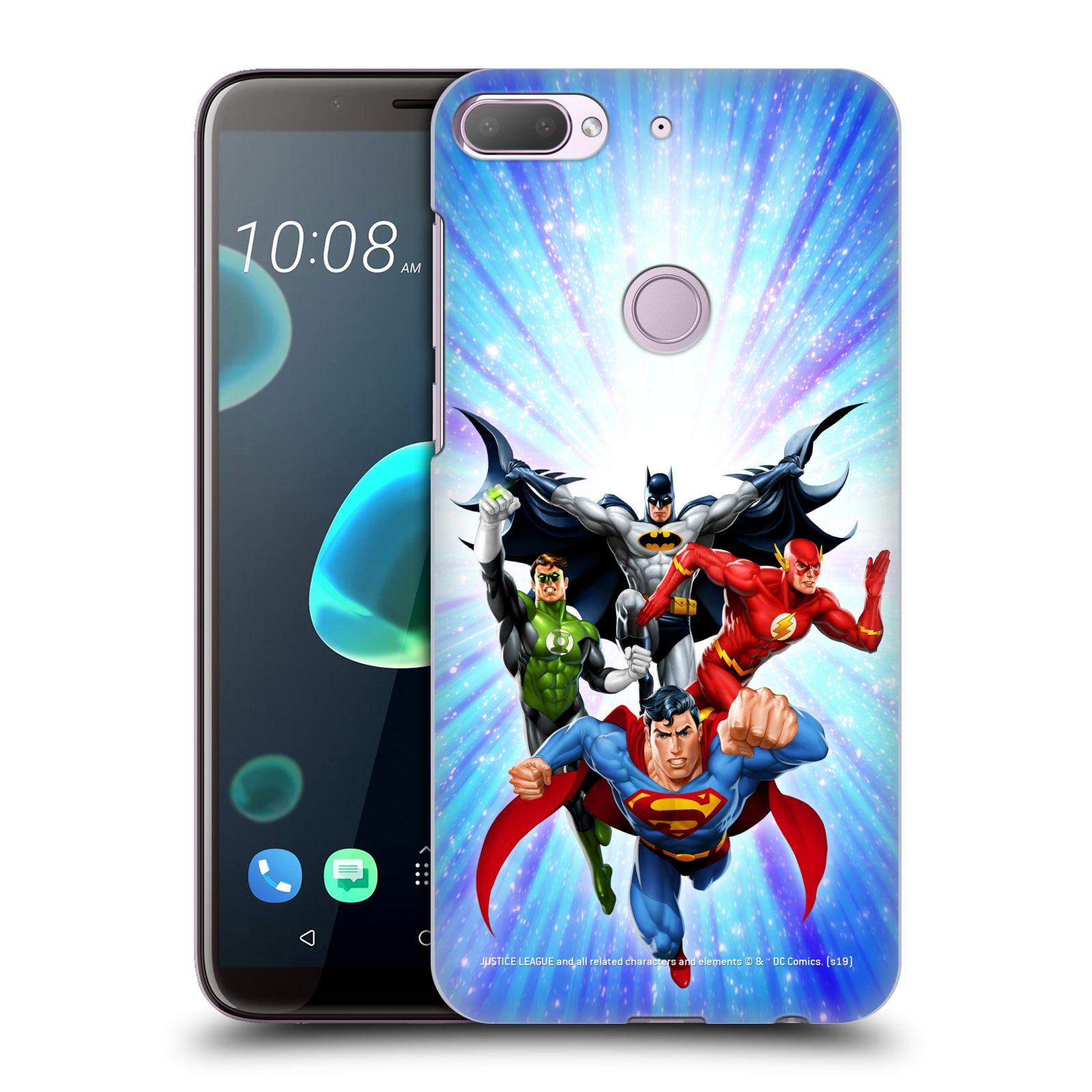 Pouzdro na mobil HTC Desire 12+ / Desire 12+ DUAL SIM - HEAD CASE - DC komix Liga Spravedlivých hrdinové