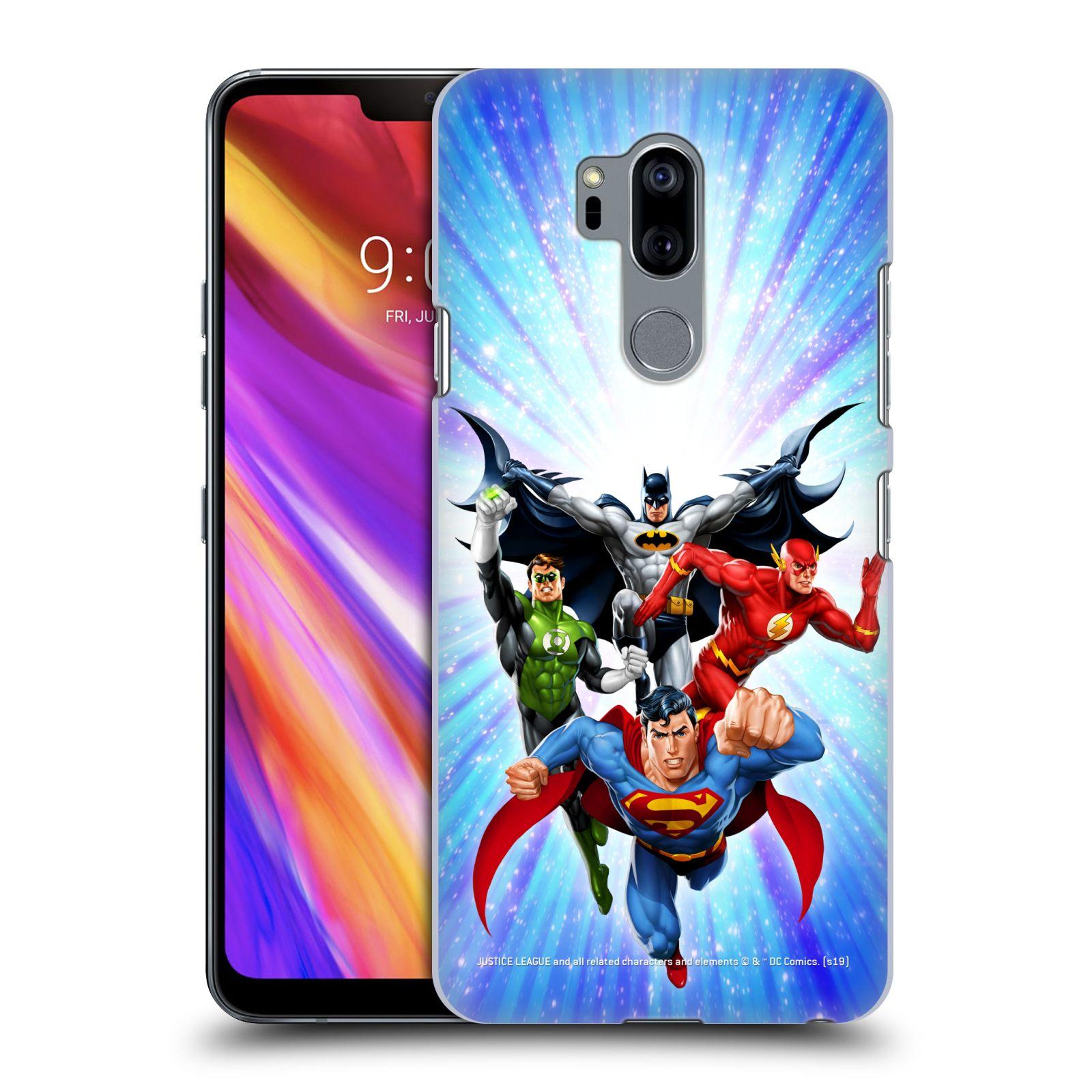 Pouzdro na mobil LG G7  ThinQ - HEAD CASE - DC komix Liga Spravedlivých hrdinové