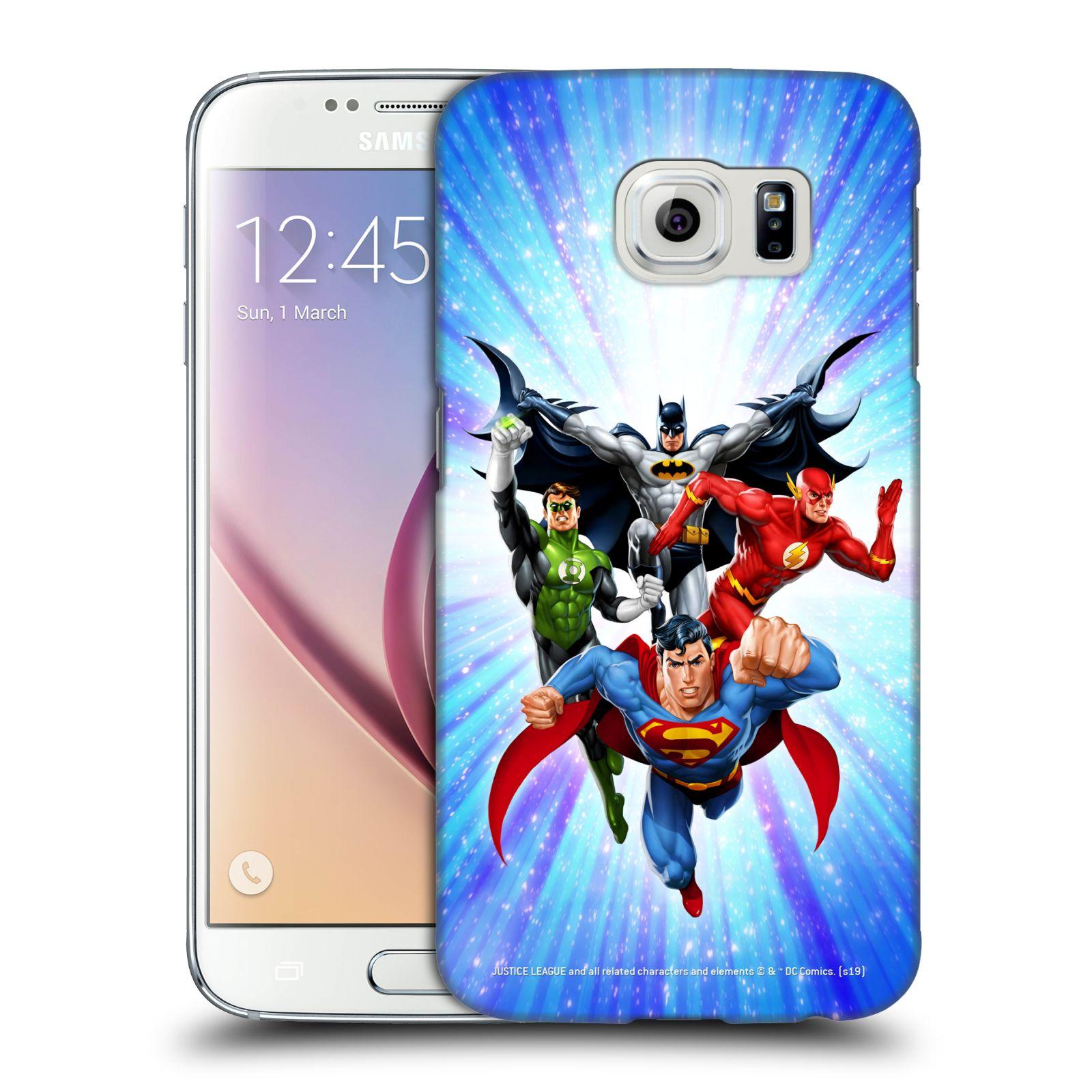 Pouzdro na mobil Samsung Galaxy S6 - HEAD CASE - DC komix Liga Spravedlivých hrdinové