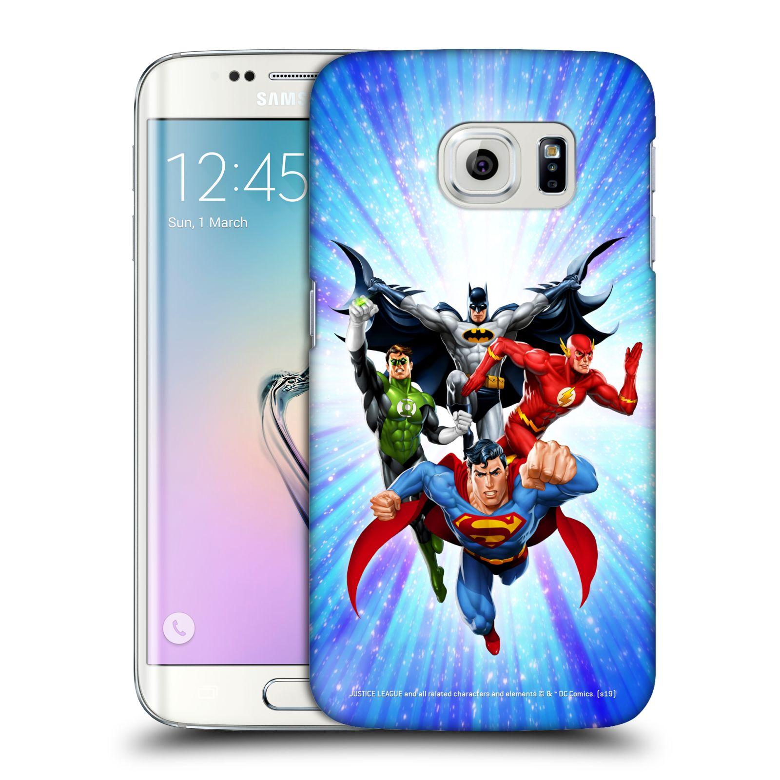 Pouzdro na mobil Samsung Galaxy S6 EDGE - HEAD CASE - DC komix Liga Spravedlivých hrdinové