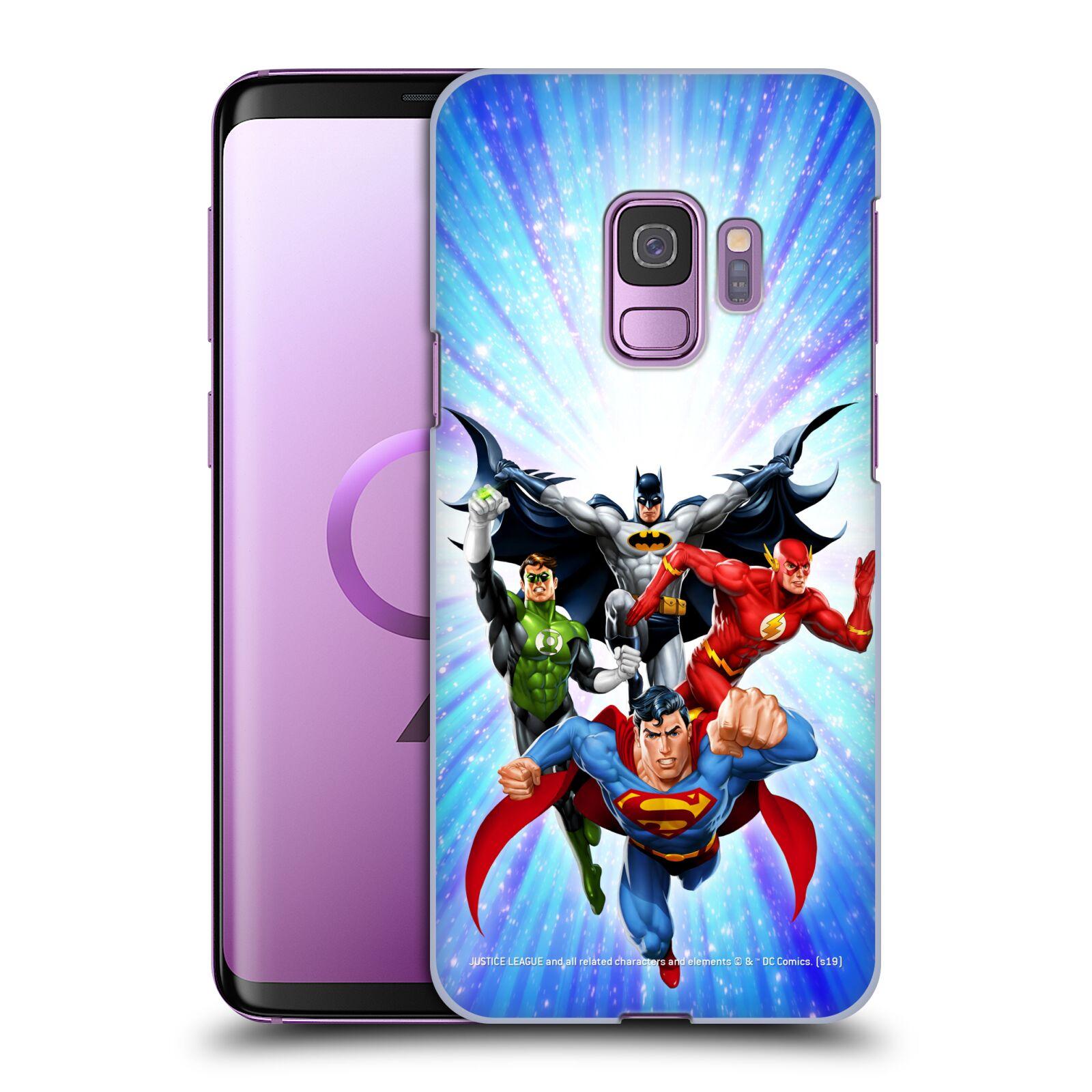 Pouzdro na mobil Samsung Galaxy S9 - HEAD CASE - DC komix Liga Spravedlivých hrdinové