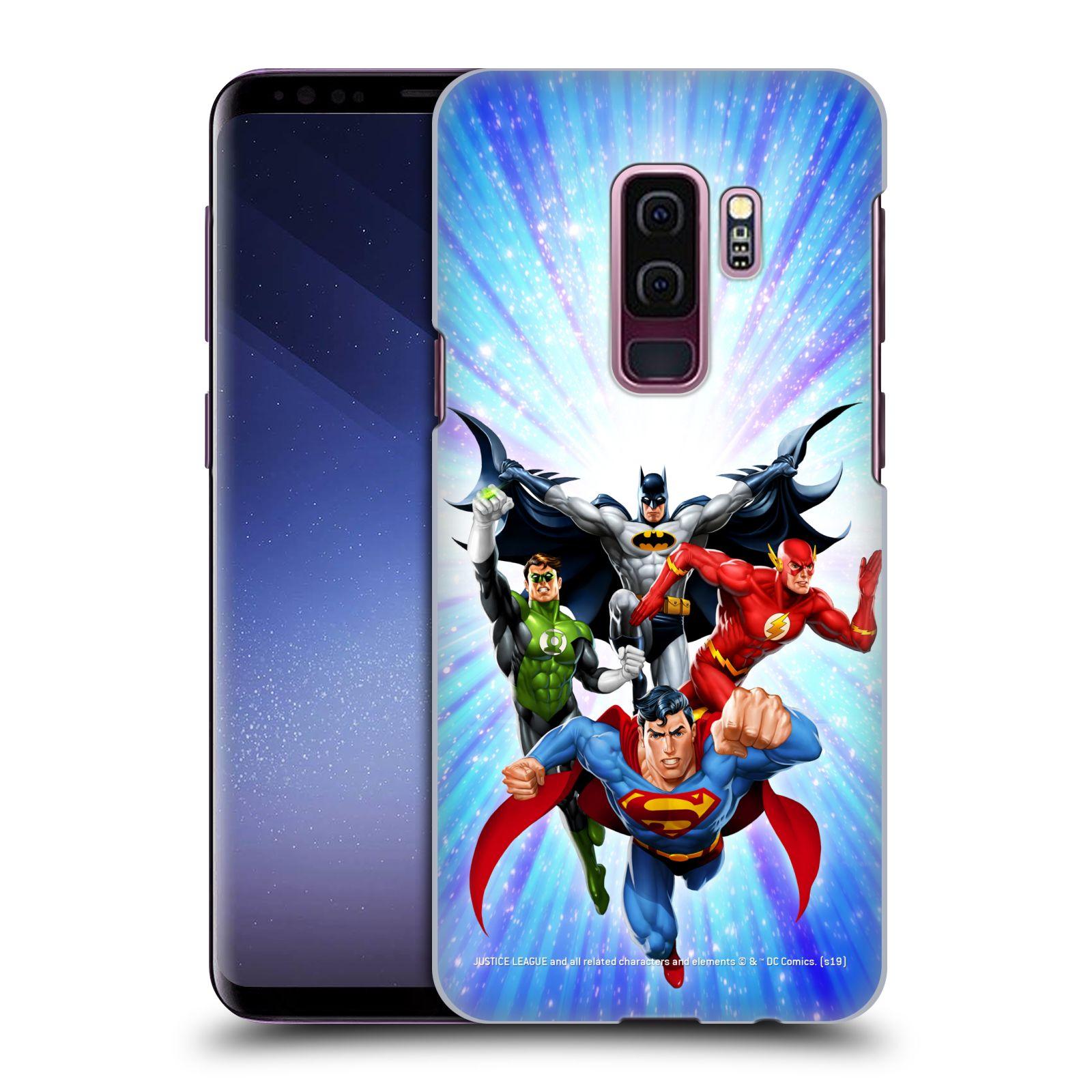 Pouzdro na mobil Samsung Galaxy S9+ / S9 PLUS - HEAD CASE - DC komix Liga Spravedlivých hrdinové