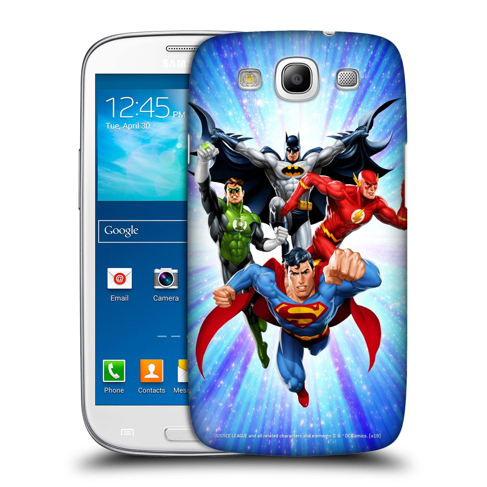 Pouzdro na mobil Samsung Galaxy S3 - HEAD CASE - DC komix Liga Spravedlivých hrdinové