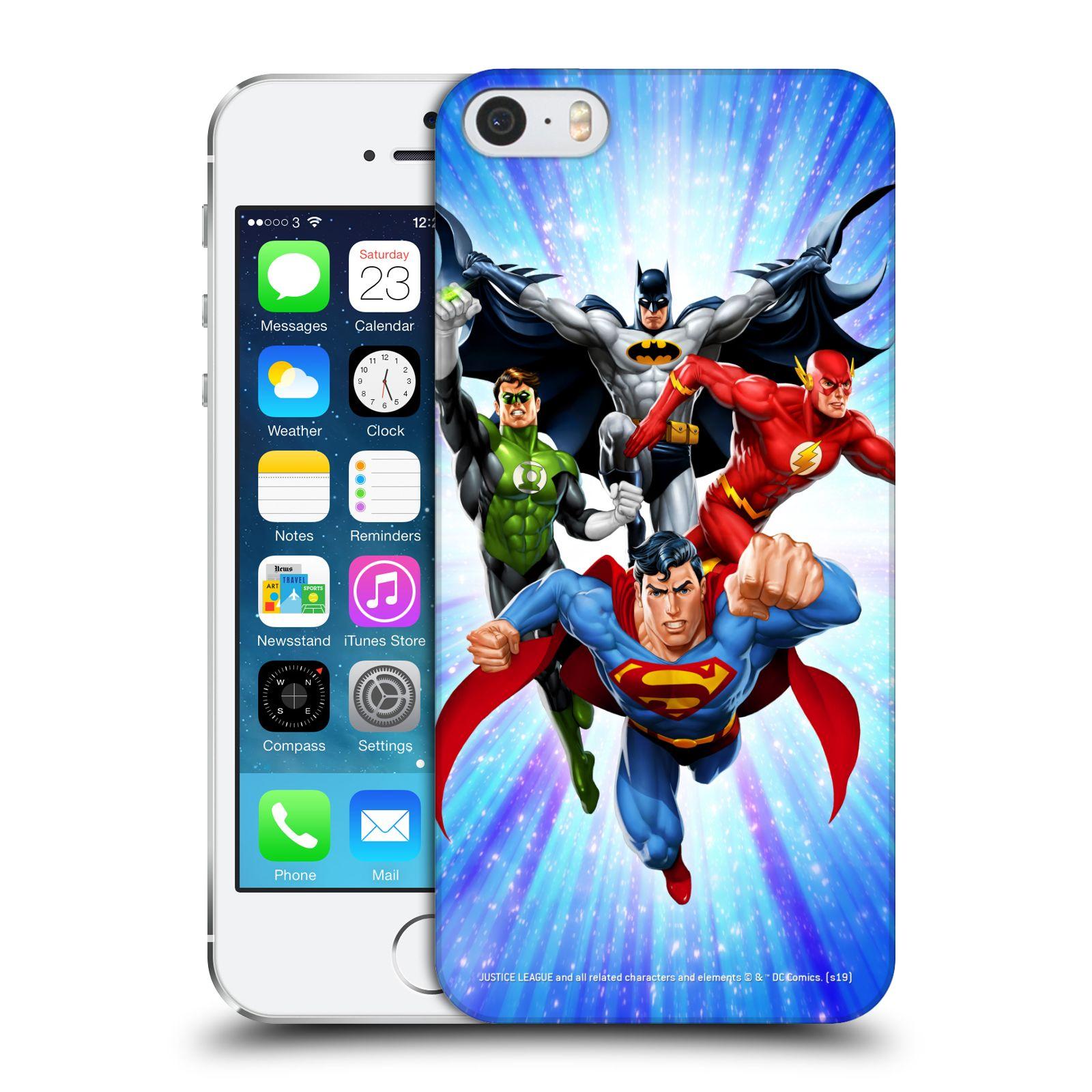 Pouzdro na mobil Apple Iphone 5/5S - HEAD CASE - DC komix Liga Spravedlivých hrdinové