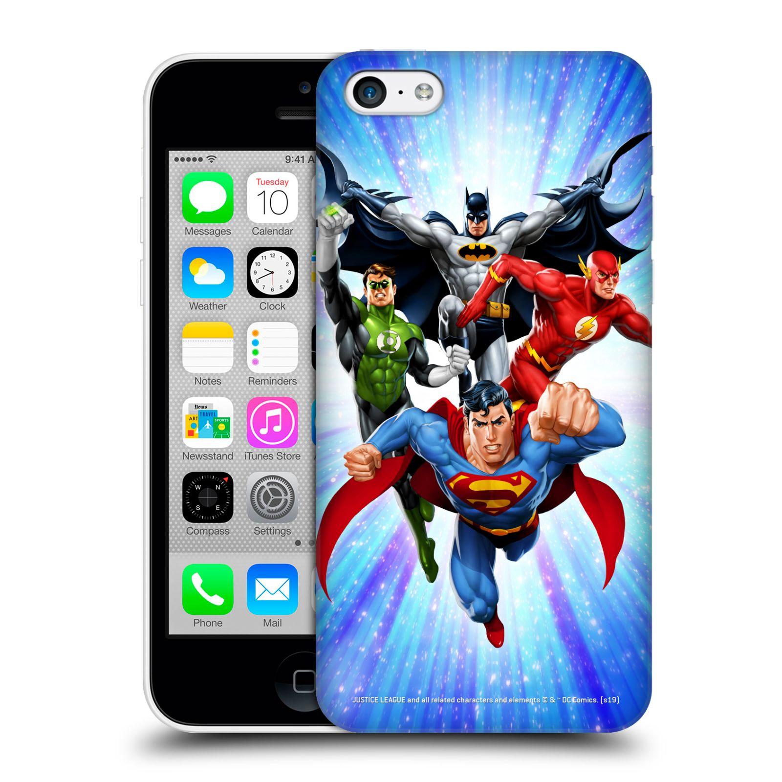 Pouzdro na mobil Apple Iphone 5C - HEAD CASE - DC komix Liga Spravedlivých hrdinové
