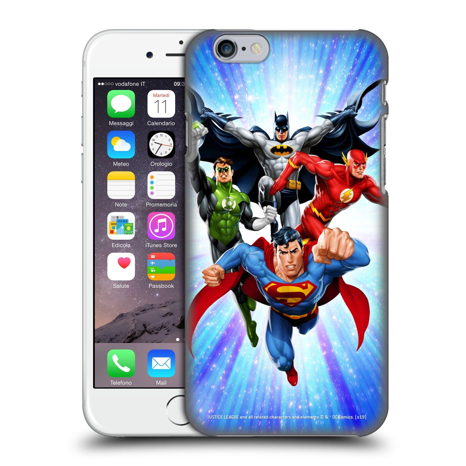 Pouzdro na mobil Apple Iphone 6/6S - HEAD CASE - DC komix Liga Spravedlivých hrdinové