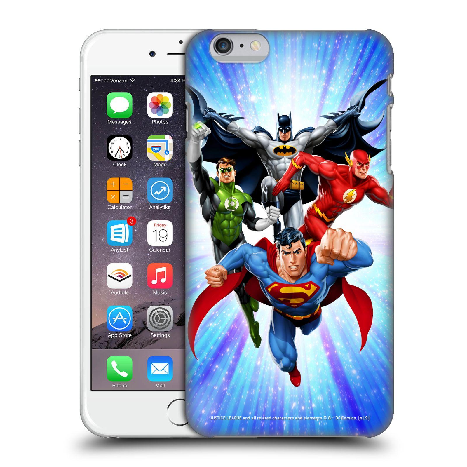 Pouzdro na mobil Apple Iphone 6/6S PLUS - HEAD CASE - DC komix Liga Spravedlivých hrdinové