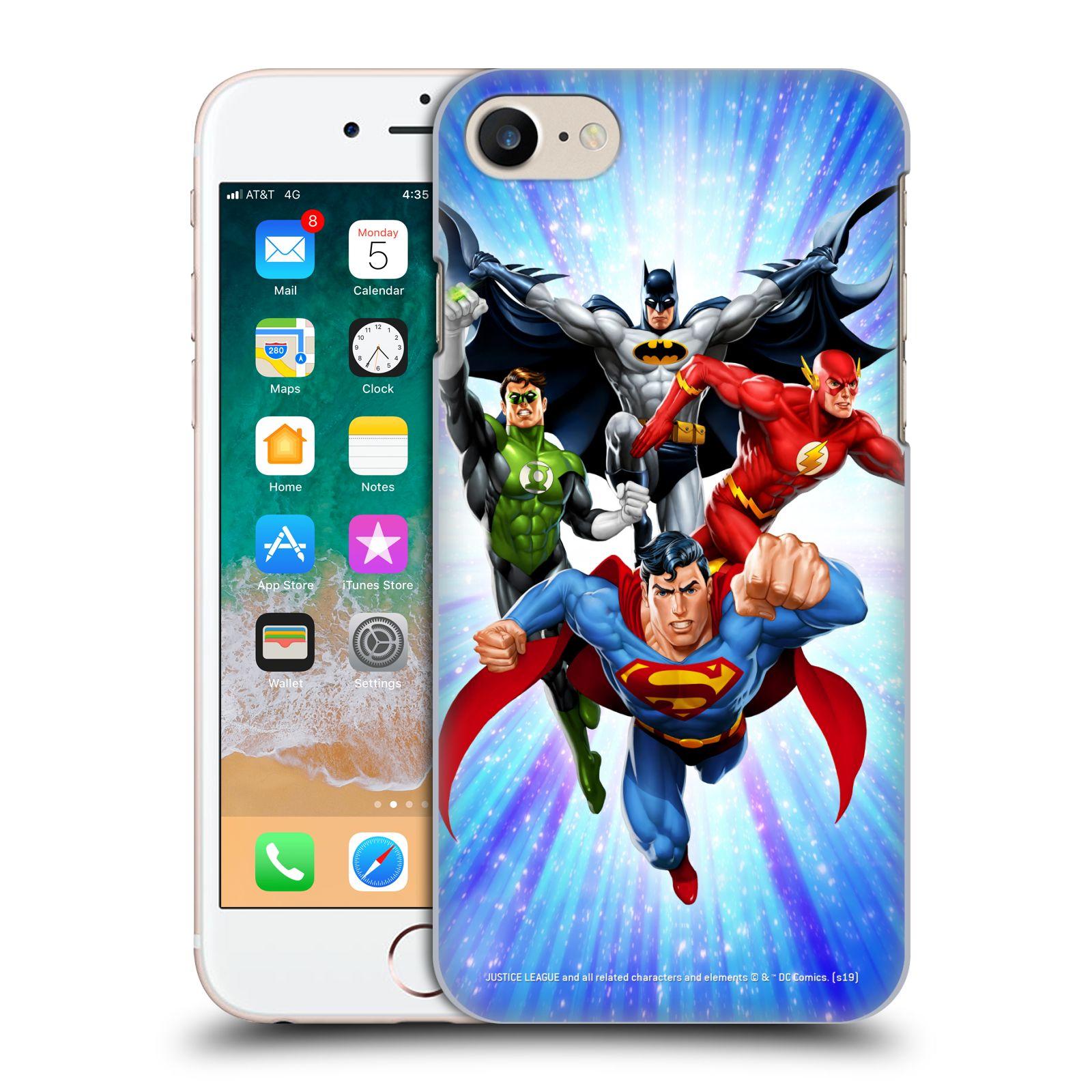 Pouzdro na mobil Apple Iphone 7/8 - HEAD CASE - DC komix Liga Spravedlivých hrdinové