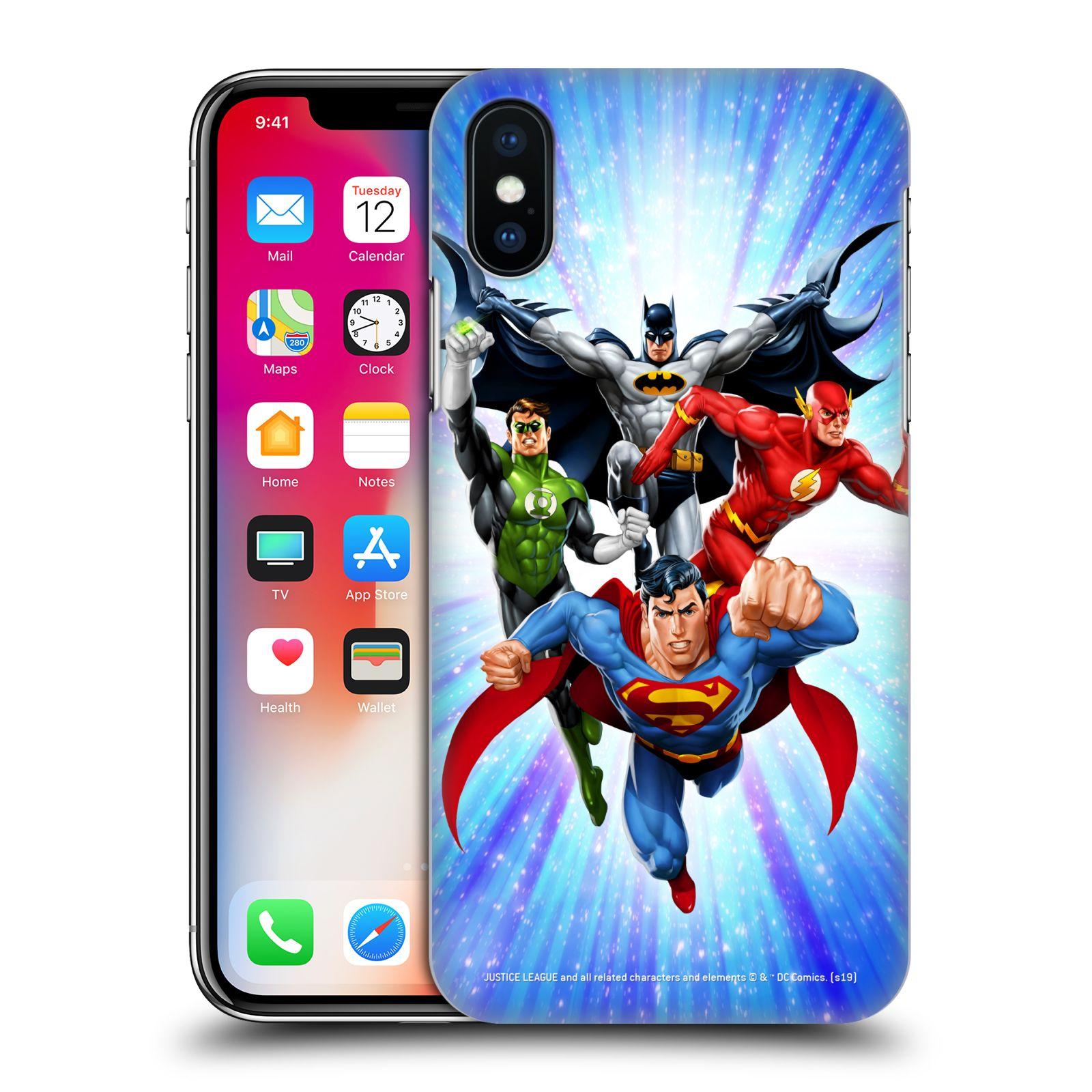 Pouzdro na mobil Apple Iphone X/XS - HEAD CASE - DC komix Liga Spravedlivých hrdinové