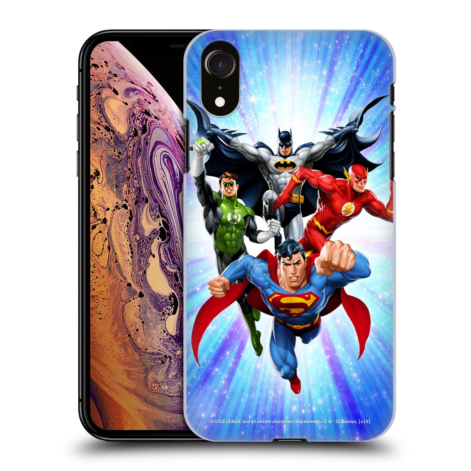 Pouzdro na mobil Apple Iphone XR - HEAD CASE - DC komix Liga Spravedlivých hrdinové
