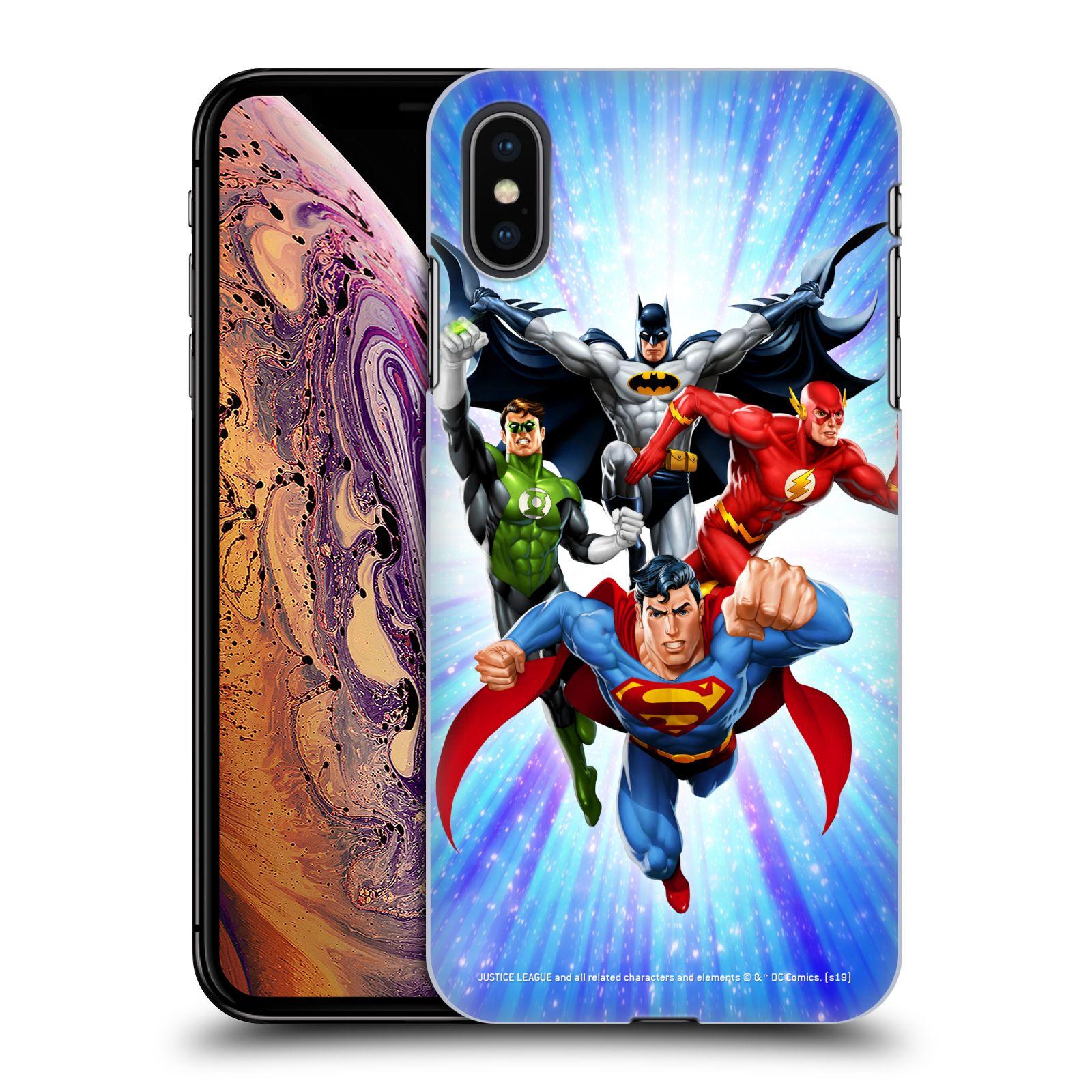 Pouzdro na mobil Apple Iphone XS MAX - HEAD CASE - DC komix Liga Spravedlivých hrdinové