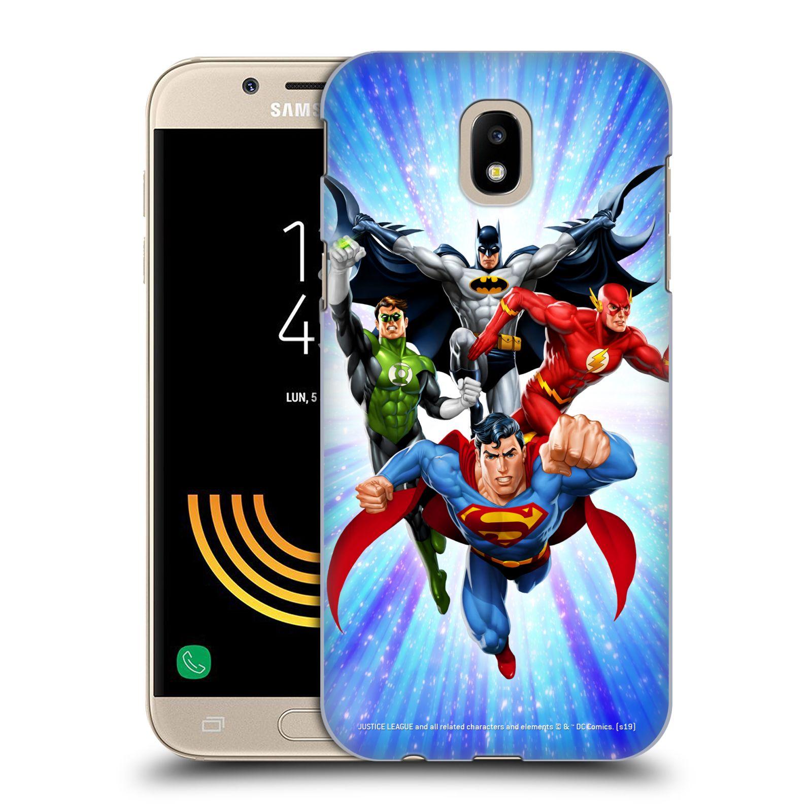 Pouzdro na mobil Samsung Galaxy J5 2017 - HEAD CASE - DC komix Liga Spravedlivých hrdinové