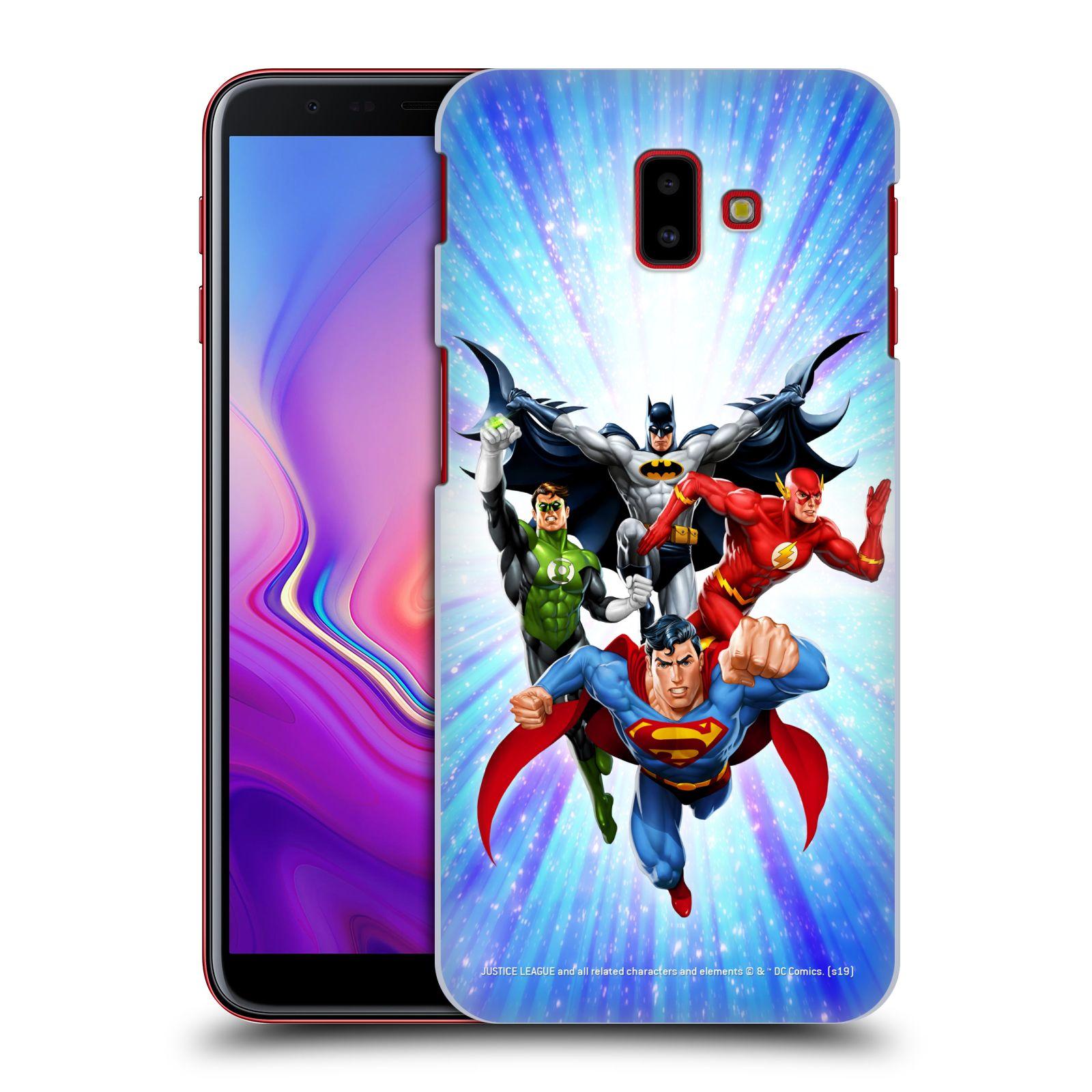Pouzdro na mobil Samsung Galaxy J6+ - HEAD CASE - DC komix Liga Spravedlivých hrdinové