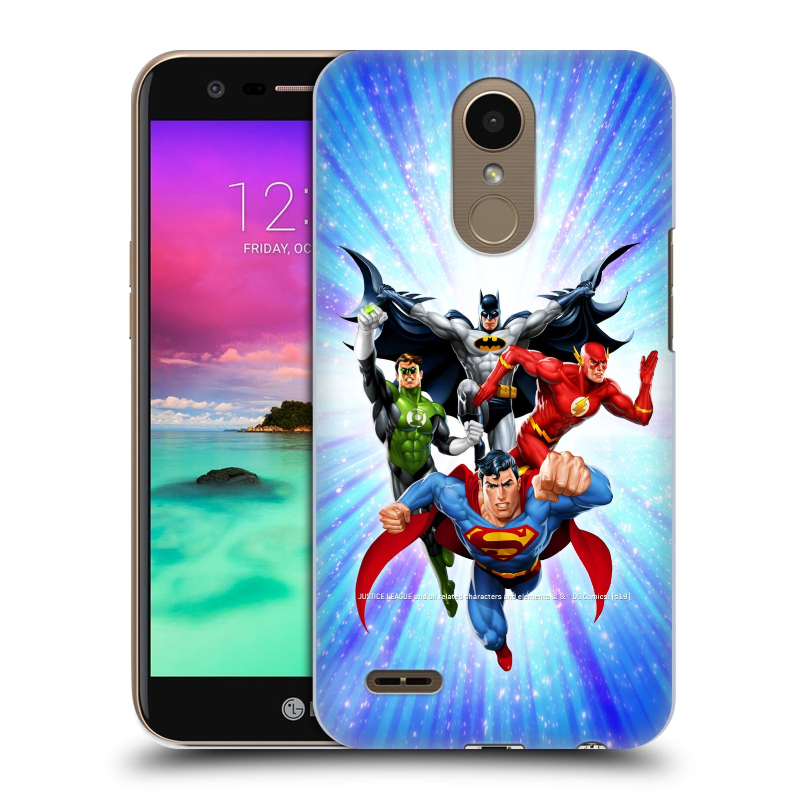 Pouzdro na mobil LG K10 2017 / K10 2017 DUAL SIM - HEAD CASE - DC komix Liga Spravedlivých hrdinové