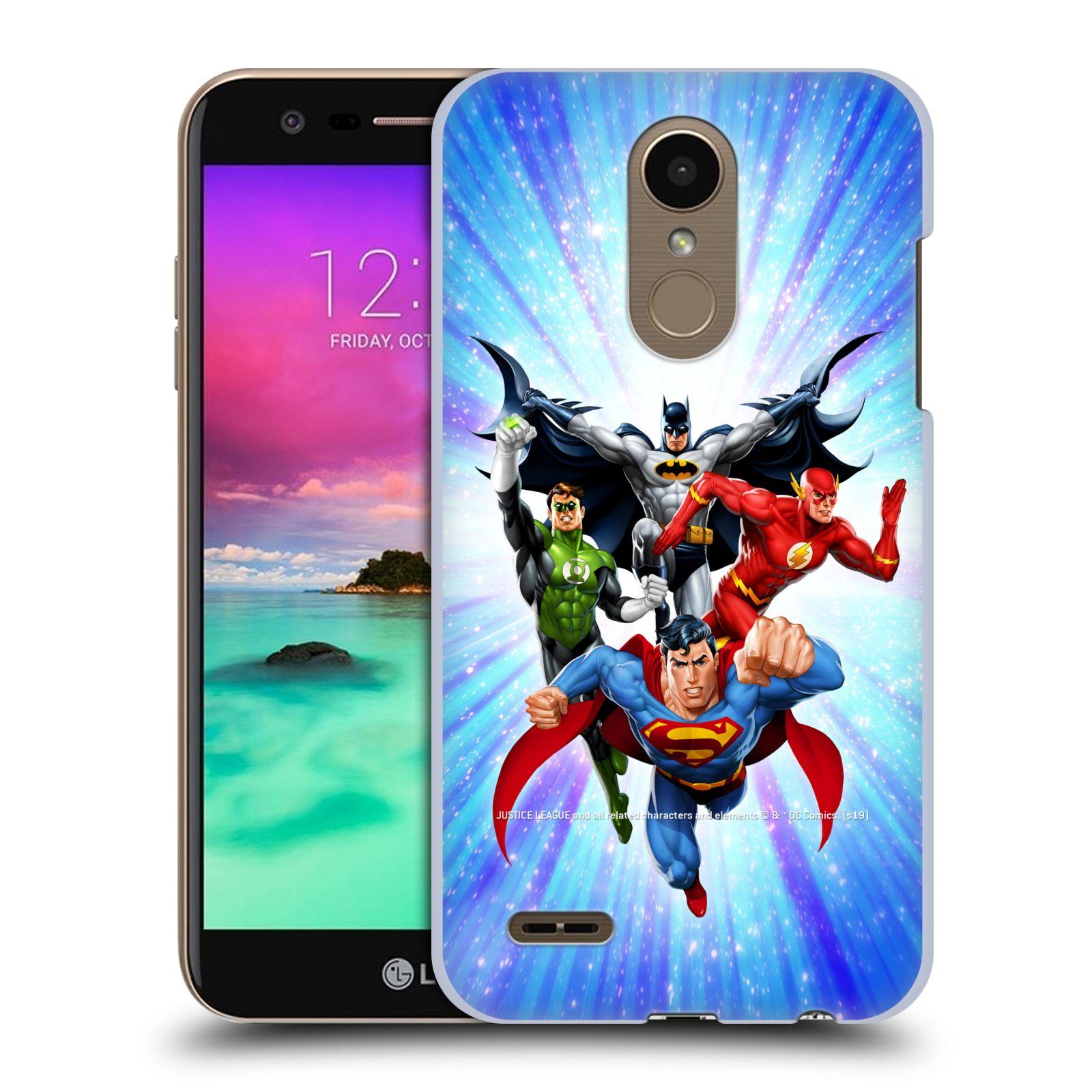 Pouzdro na mobil LG K10 2018 - HEAD CASE - DC komix Liga Spravedlivých hrdinové