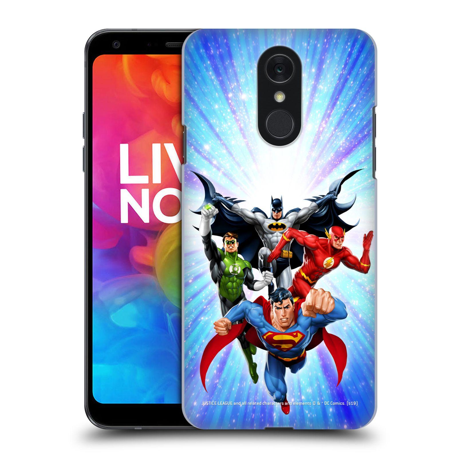 Pouzdro na mobil LG Q7 - HEAD CASE - DC komix Liga Spravedlivých hrdinové