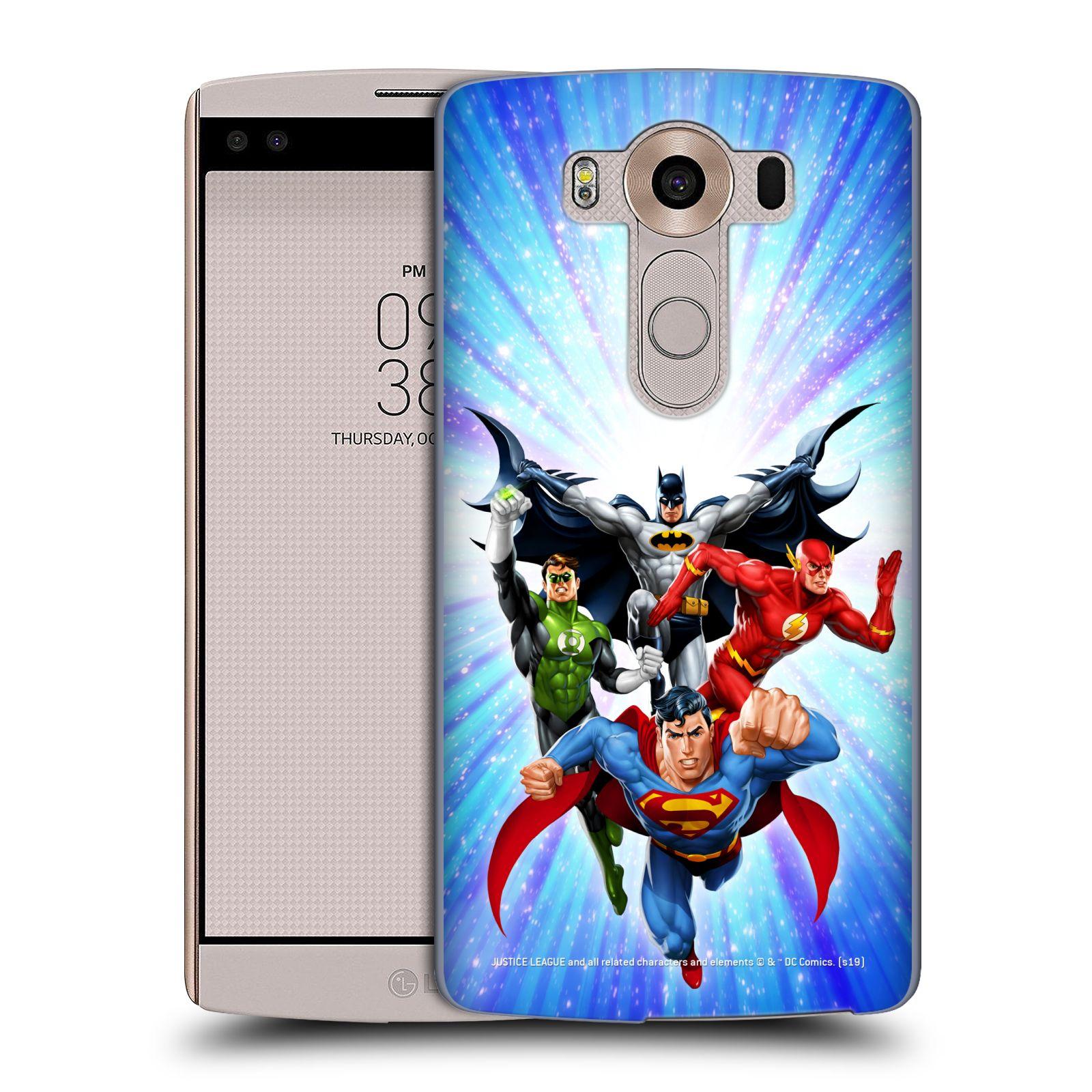 Pouzdro na mobil LG V10 - HEAD CASE - DC komix Liga Spravedlivých hrdinové