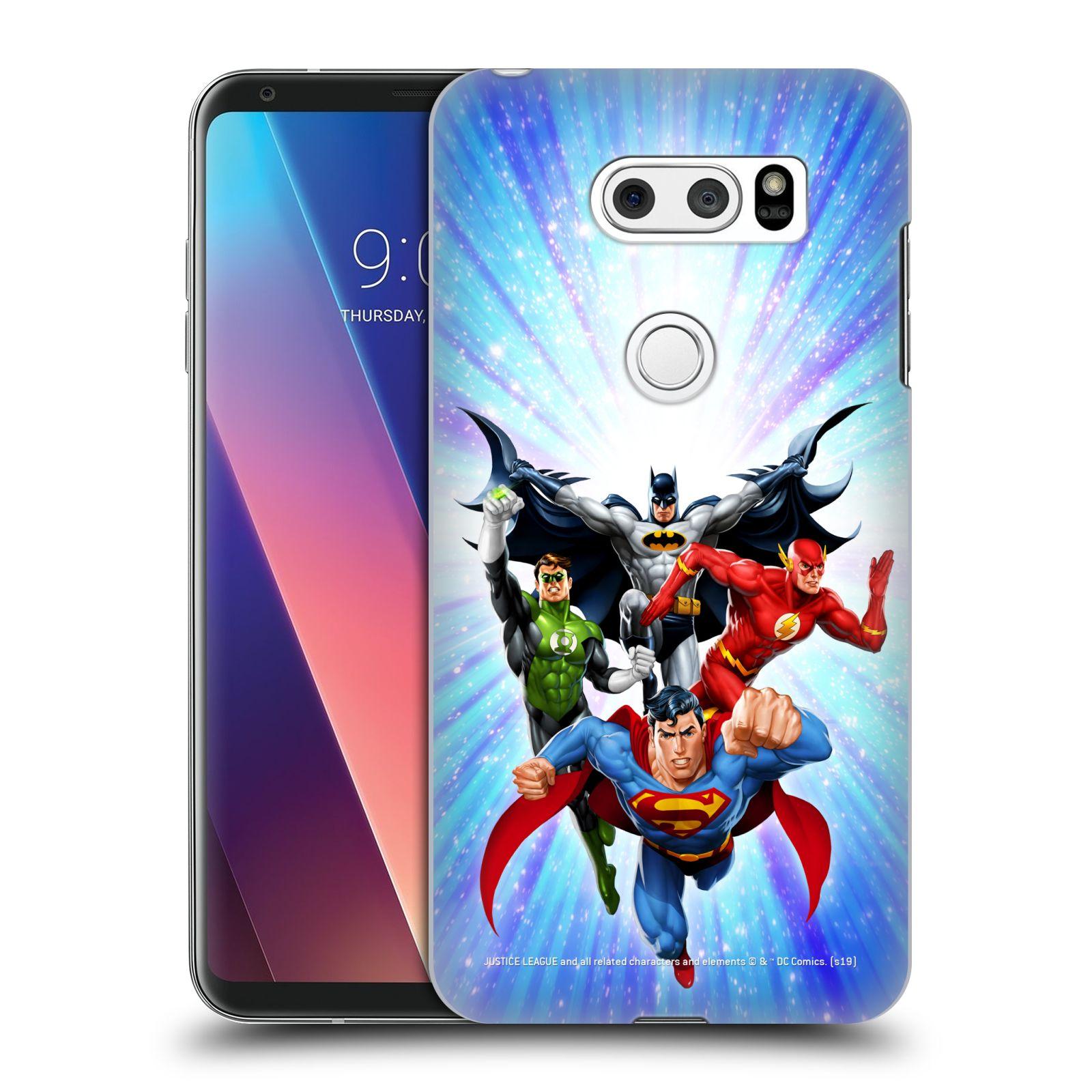 Pouzdro na mobil LG V30 - HEAD CASE - DC komix Liga Spravedlivých hrdinové