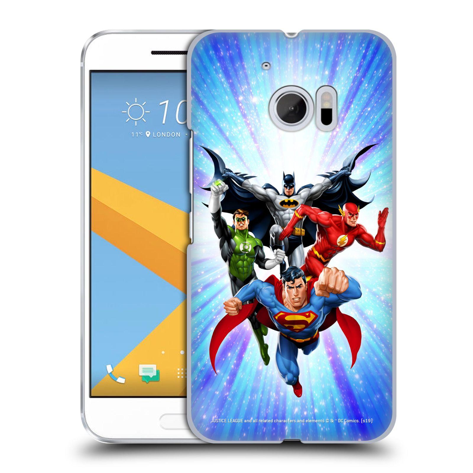 Pouzdro na mobil HTC 10 - HEAD CASE - DC komix Liga Spravedlivých hrdinové