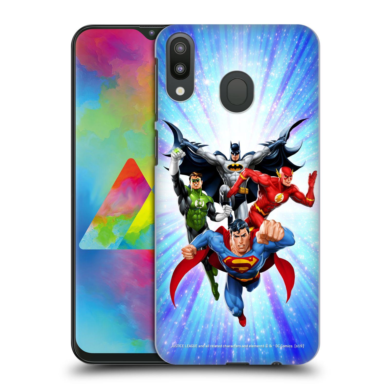 Pouzdro na mobil Samsung Galaxy M20 - HEAD CASE - DC komix Liga Spravedlivých hrdinové