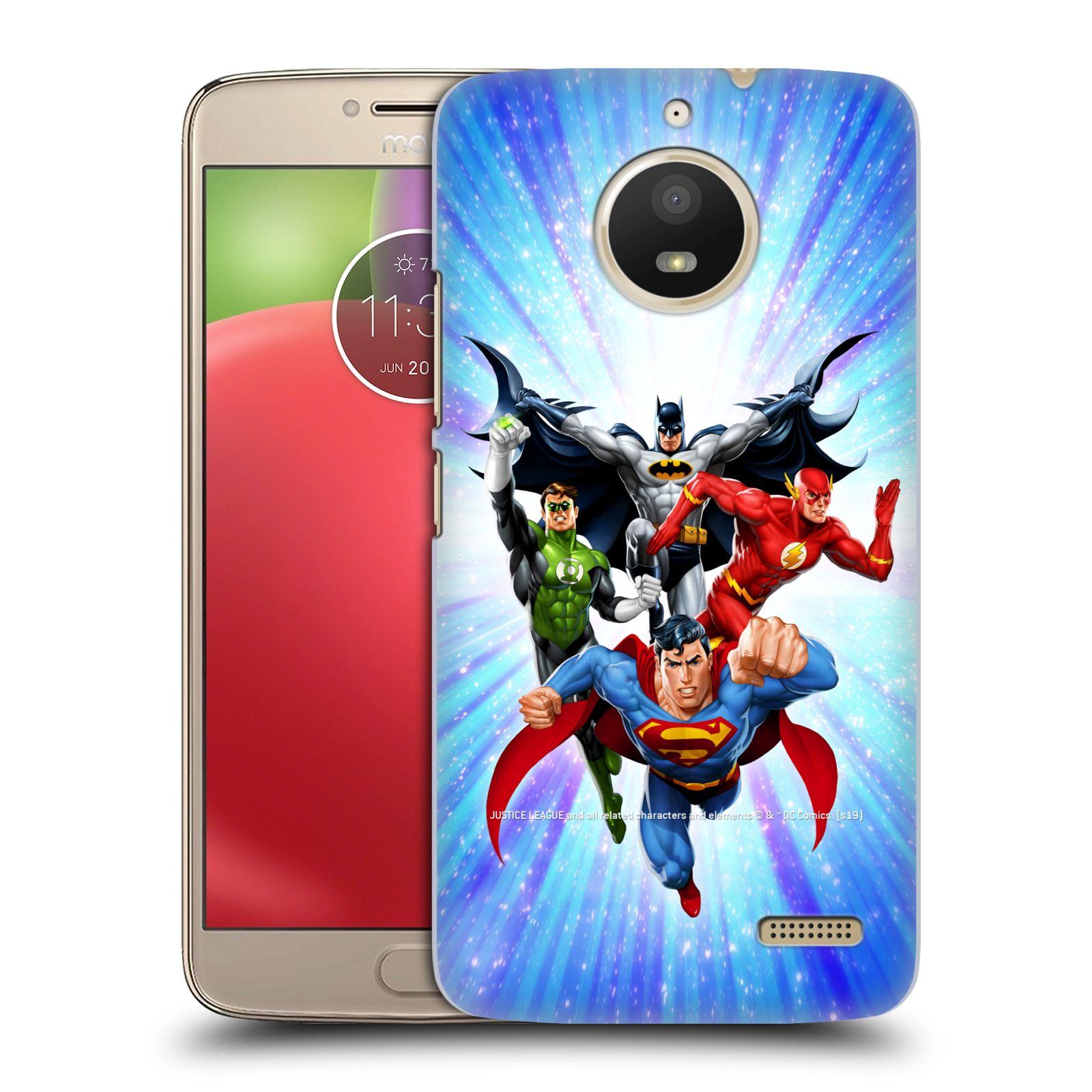 Pouzdro na mobil Lenovo Moto E4 - HEAD CASE - DC komix Liga Spravedlivých hrdinové
