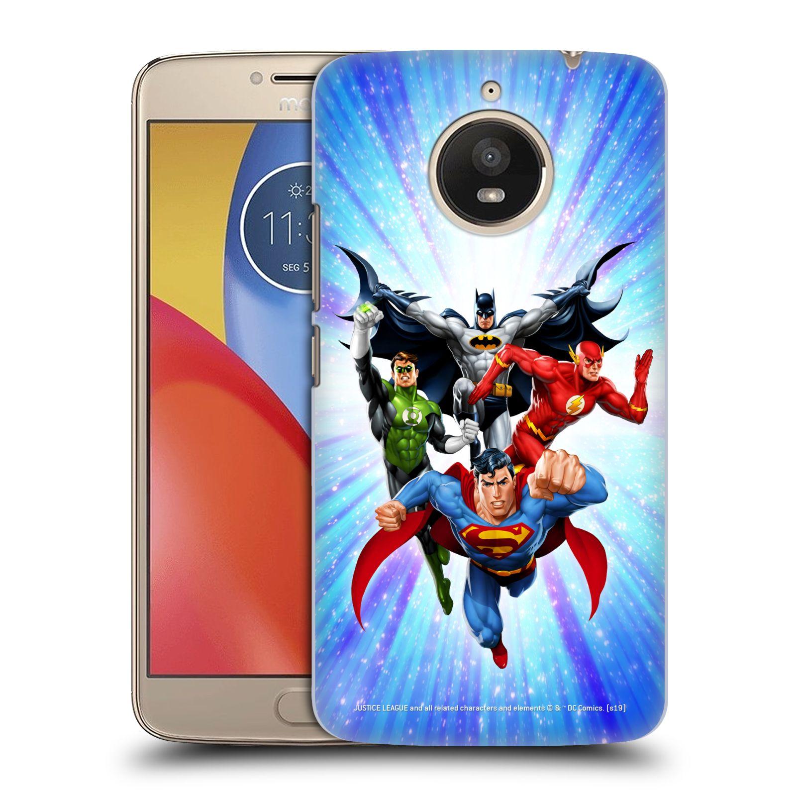 Pouzdro na mobil Lenovo Moto E4 PLUS - HEAD CASE - DC komix Liga Spravedlivých hrdinové