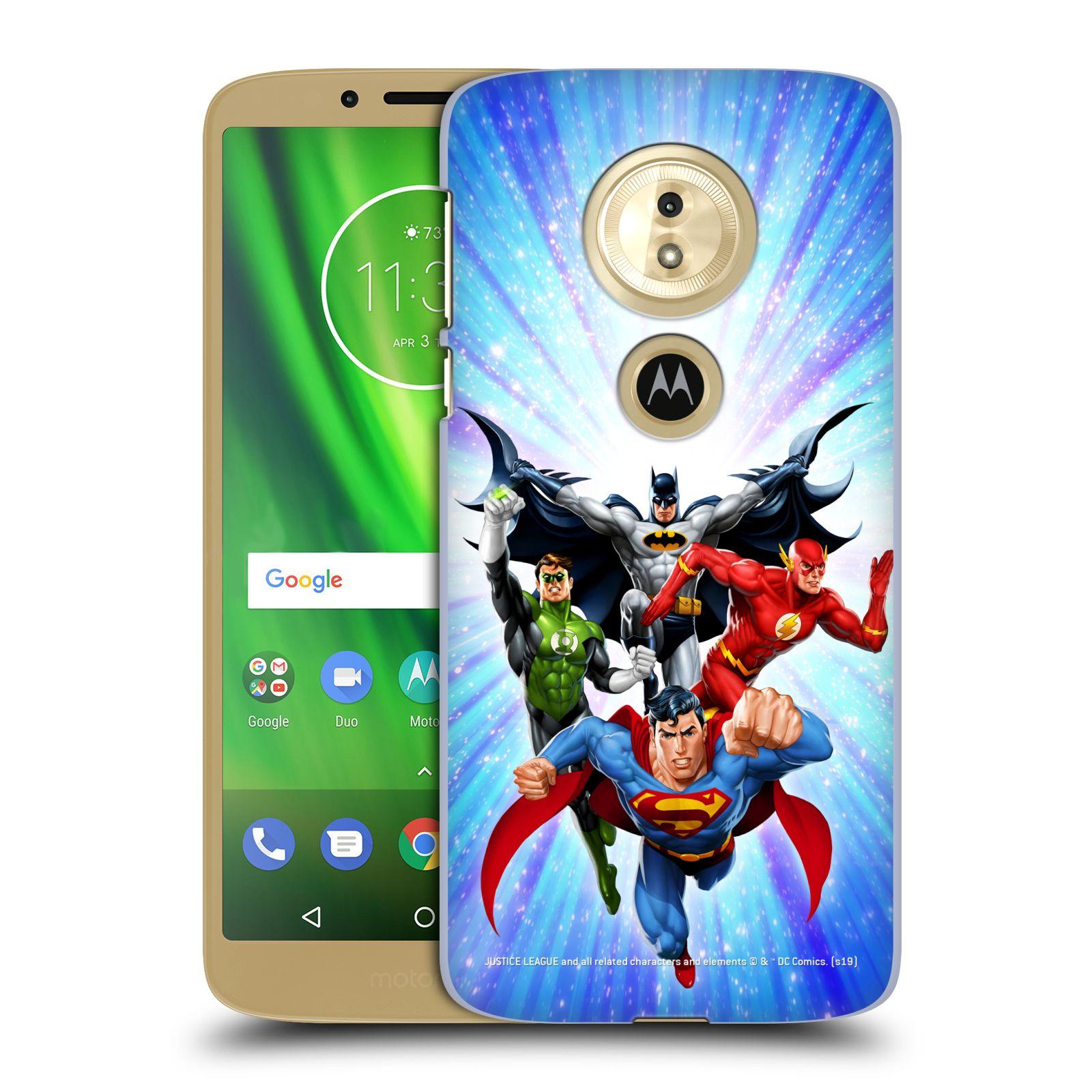 Pouzdro na mobil Motorola Moto E5 - HEAD CASE - DC komix Liga Spravedlivých hrdinové