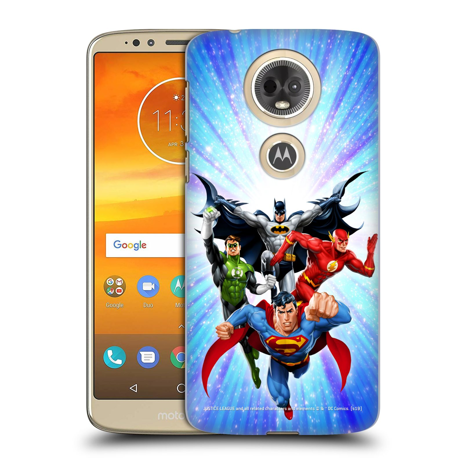 Pouzdro na mobil Motorola Moto E5 PLUS - HEAD CASE - DC komix Liga Spravedlivých hrdinové