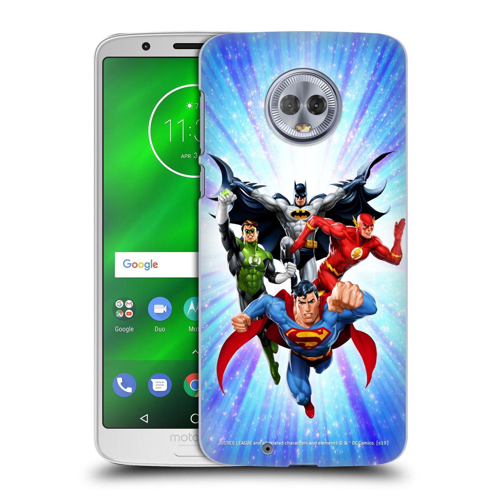 Pouzdro na mobil Motorola Moto G6 - HEAD CASE - DC komix Liga Spravedlivých hrdinové