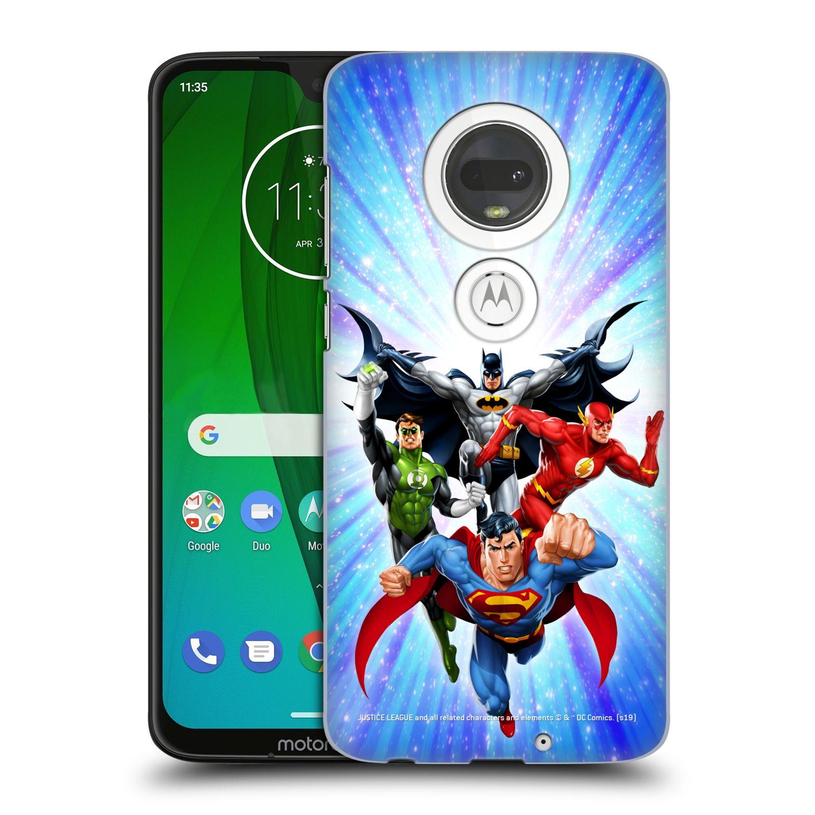 Pouzdro na mobil Motorola Moto G7 - HEAD CASE - DC komix Liga Spravedlivých hrdinové
