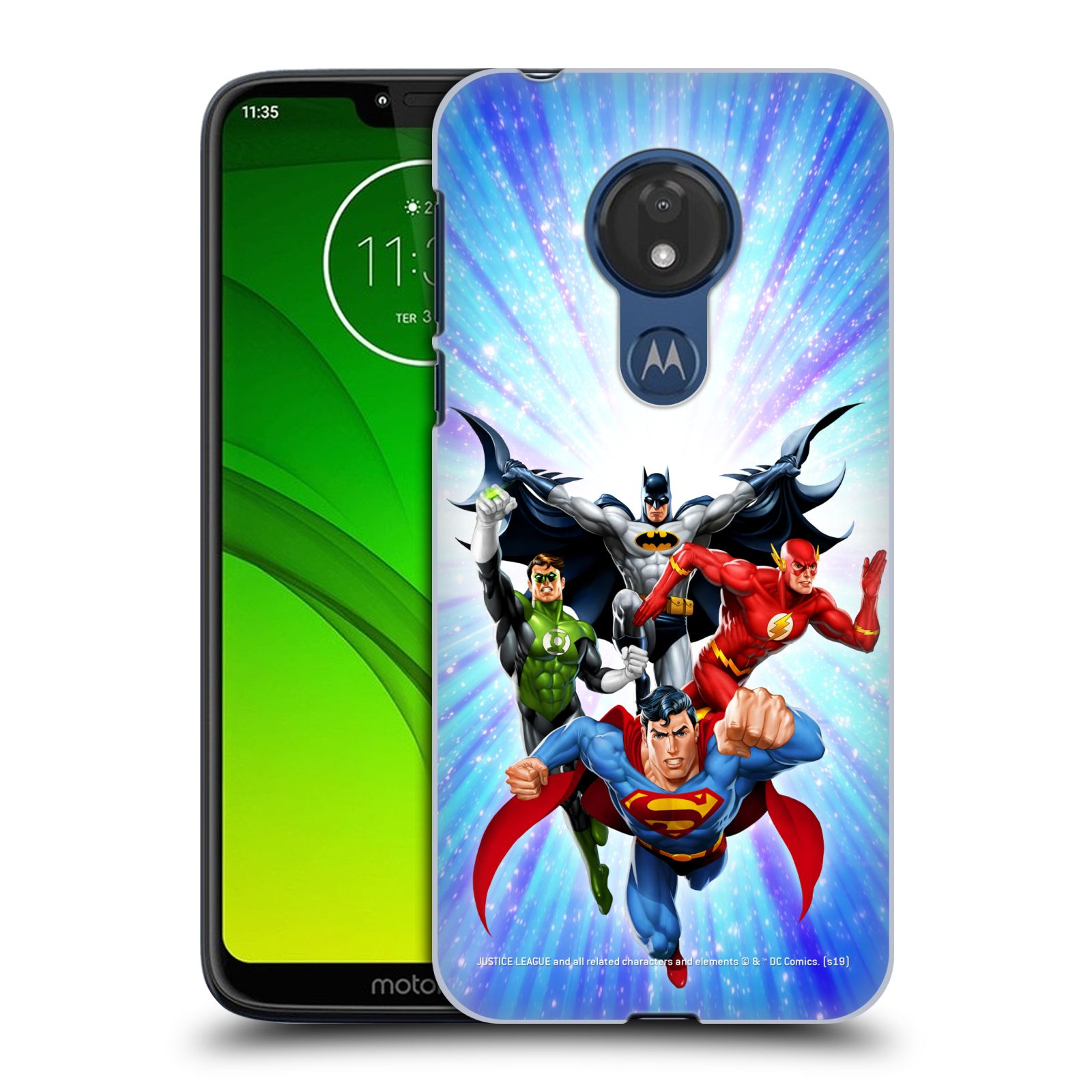 Pouzdro na mobil Motorola Moto G7 POWER - HEAD CASE - DC komix Liga Spravedlivých hrdinové