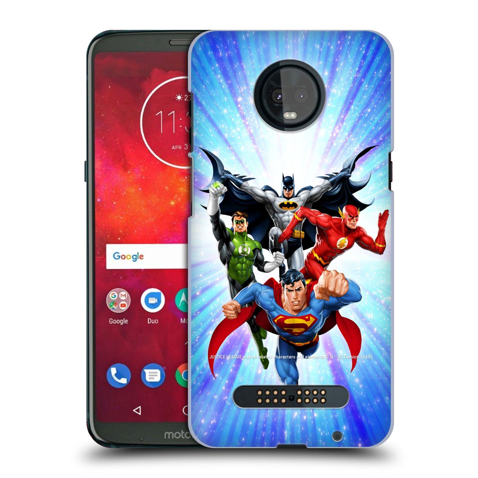 Pouzdro na mobil Motorola Moto Z3 PLAY - HEAD CASE - DC komix Liga Spravedlivých hrdinové