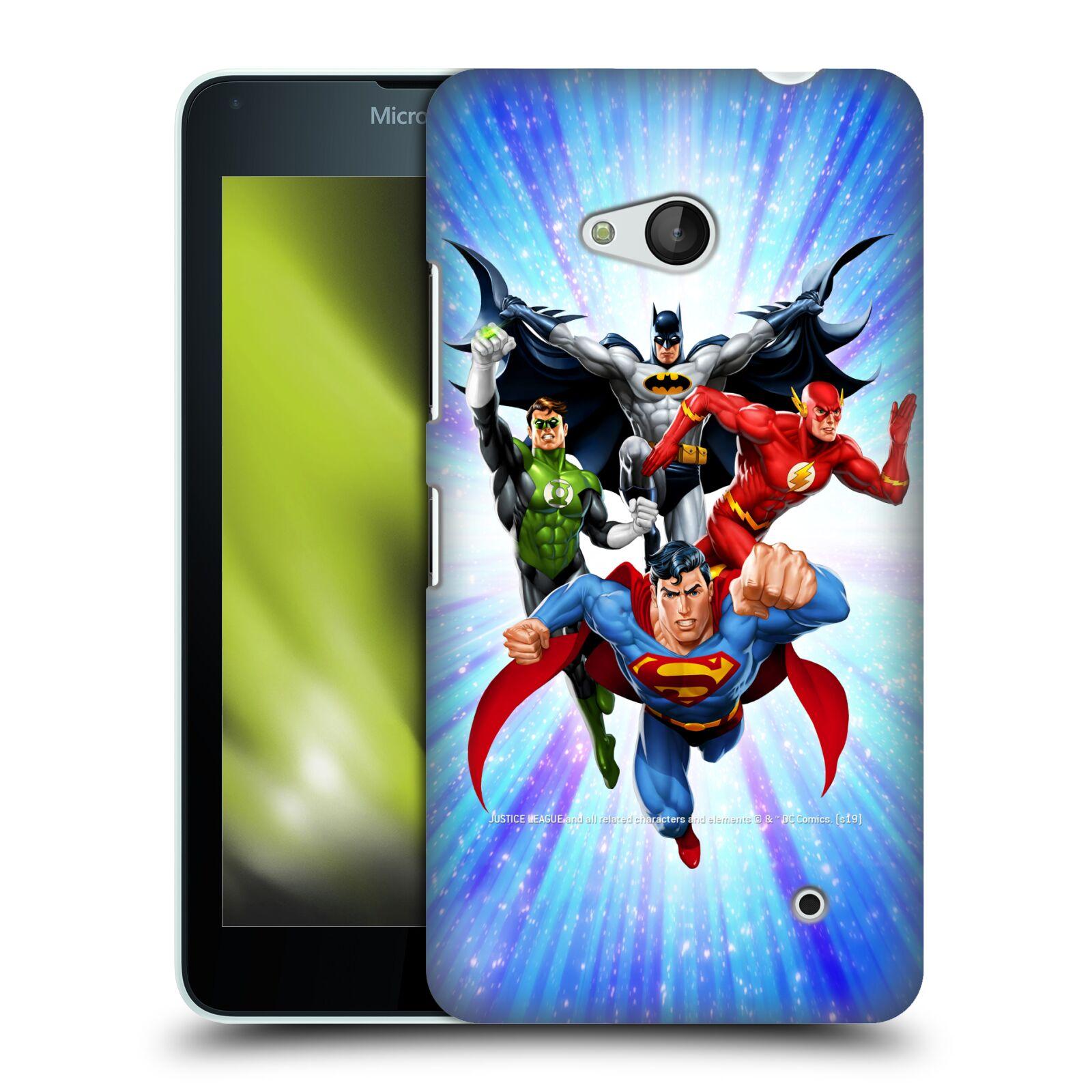Pouzdro na mobil Microsoft Lumia 640 / 640 DUAL SIM - HEAD CASE - DC komix Liga Spravedlivých hrdinové