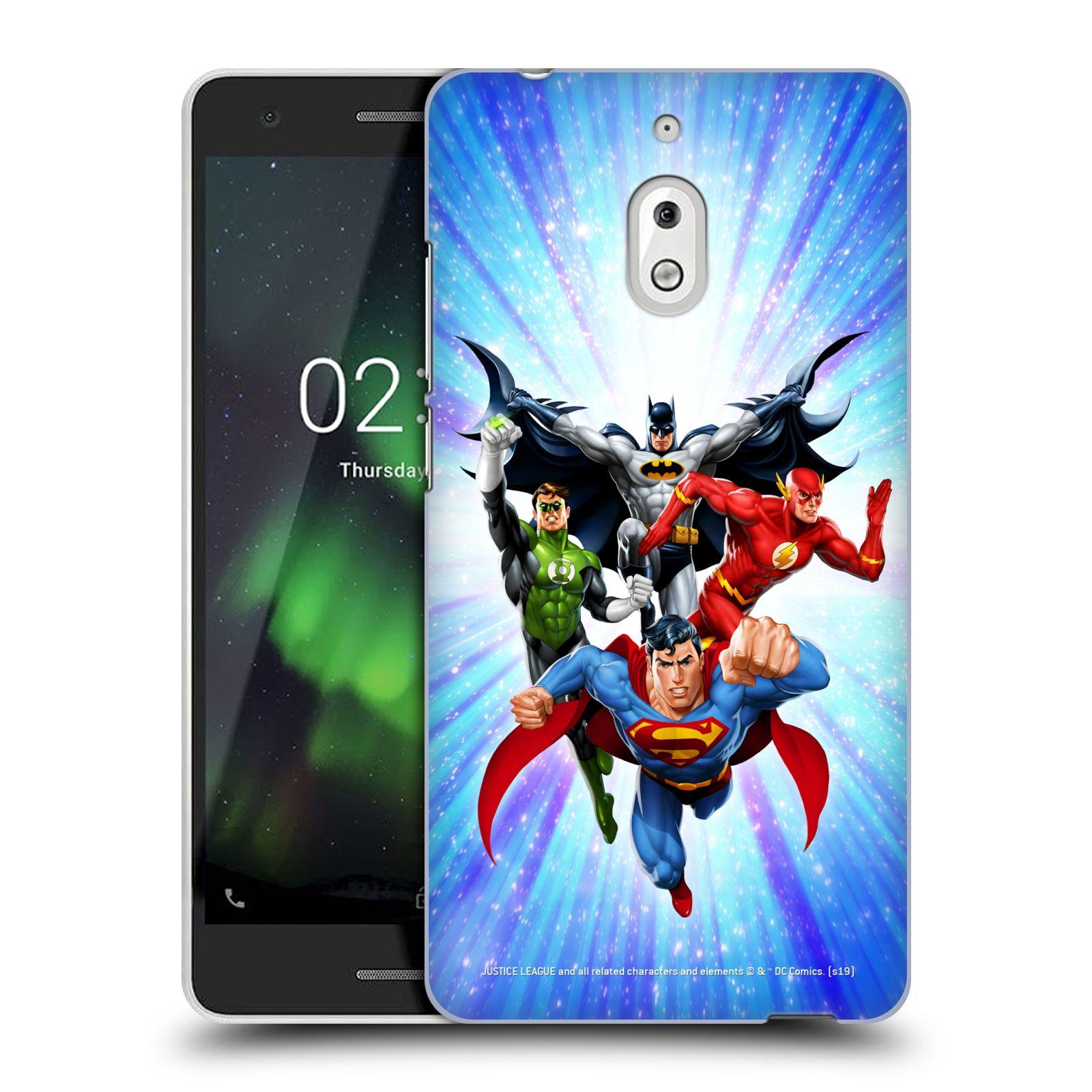 Pouzdro na mobil Nokia 2.1 - HEAD CASE - DC komix Liga Spravedlivých hrdinové